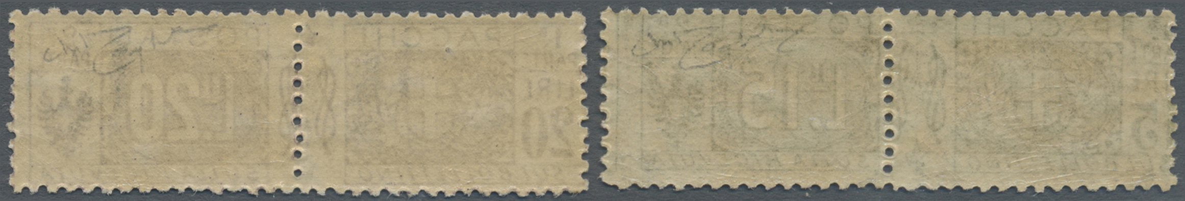Lot 17098 - italien - paketmarken  -  Auktionshaus Christoph Gärtner GmbH & Co. KG Single lots Philately Overseas & Europe. Auction #39 Day 4