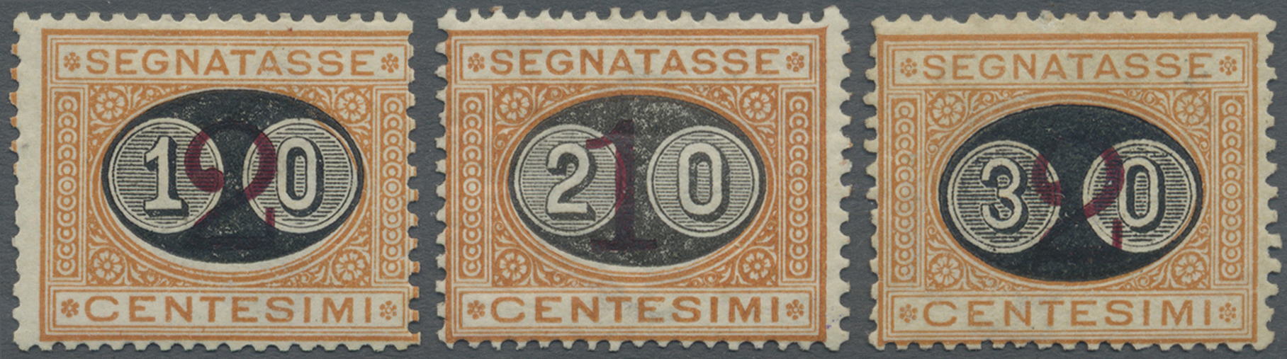 Lot 17121 - Italien - Portomarken  -  Auktionshaus Christoph Gärtner GmbH & Co. KG Single lots Philately Overseas & Europe. Auction #39 Day 4