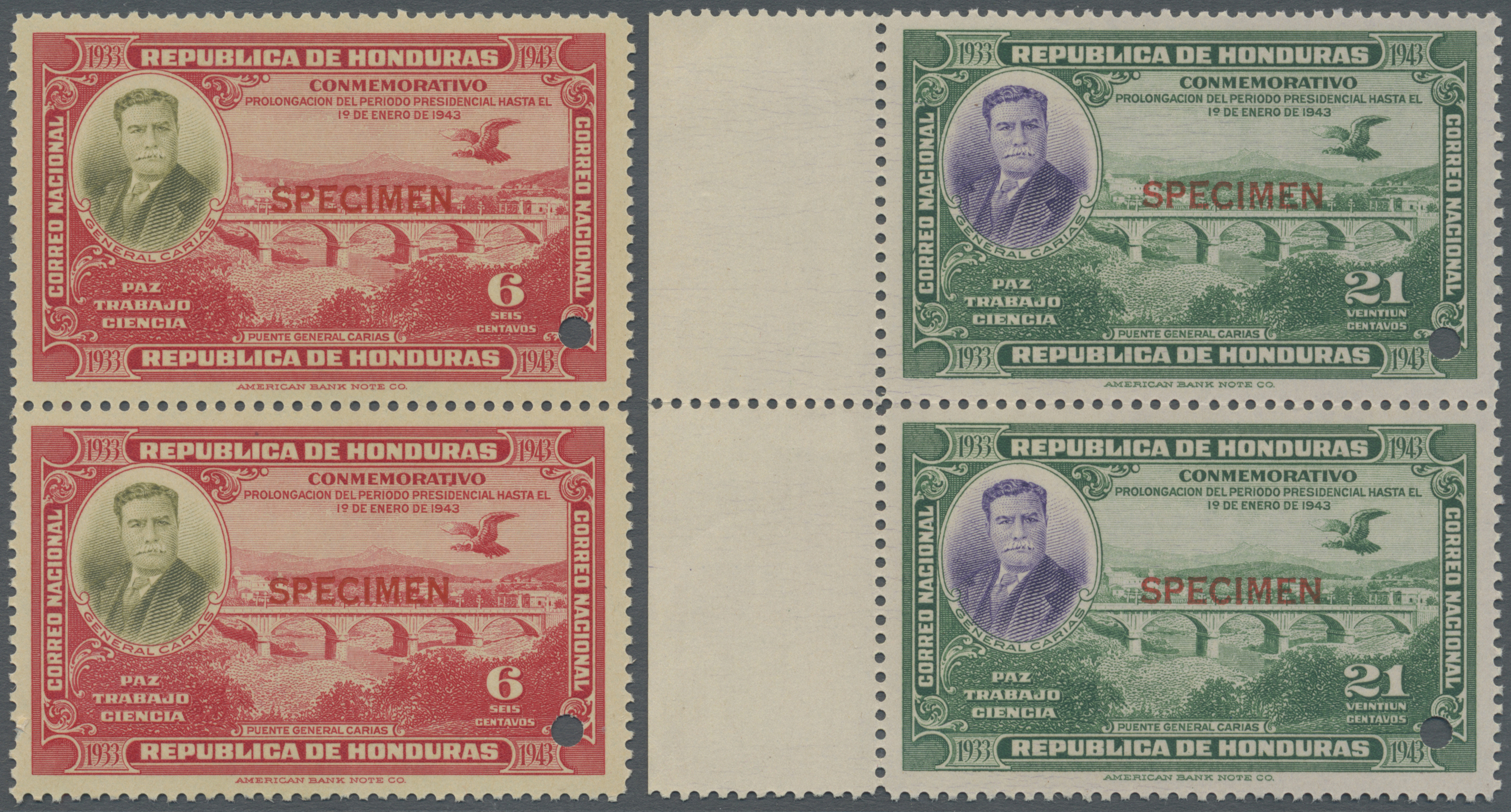Lot 13849 - Honduras  -  Auktionshaus Christoph Gärtner GmbH & Co. KG Single lots Philately Overseas & Europe. Auction #39 Day 4
