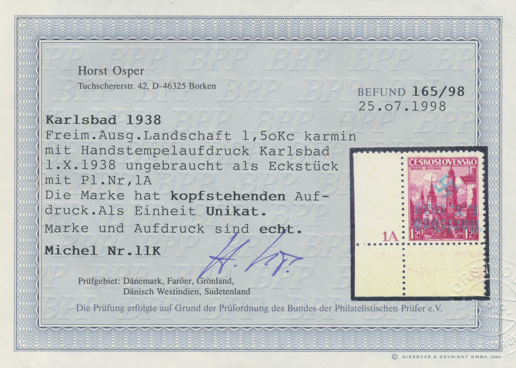 Lot 22 - sudetenland - karlsbad  -  Auktionshaus Christoph Gärtner GmbH & Co. KG Auction #41 Special auction part one