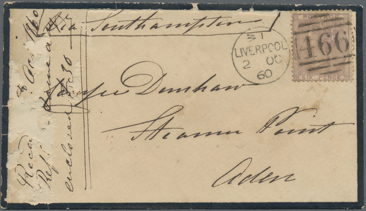 Lot 07109 - aden  -  Auktionshaus Christoph Gärtner GmbH & Co. KG Sale #43 Asia, Overseas, Air & Ships, Mail, Spain, Day 4