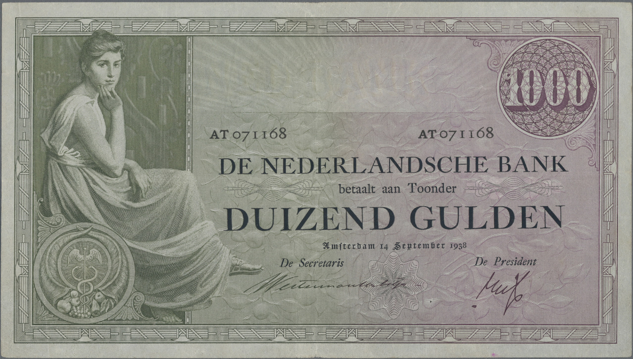 Lot 00554 - Netherlands / Niederlande | Banknoten  -  Auktionshaus Christoph Gärtner GmbH & Co. KG Sale #48 The Banknotes