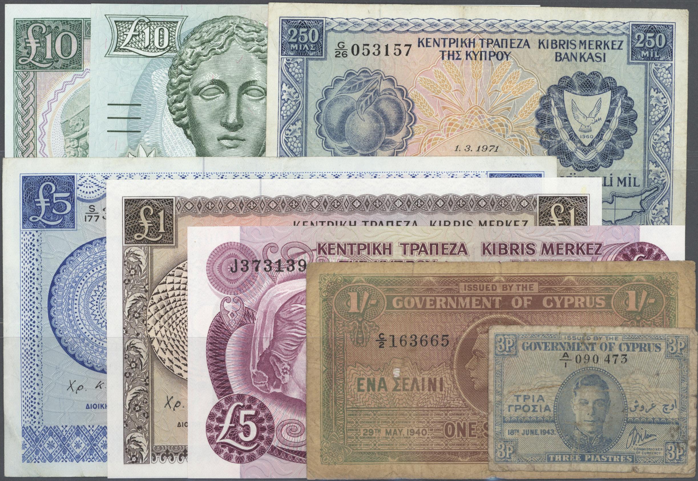 Lot 00370 - Cyprus / Zypern   Banknoten  -  Auktionshaus Christoph Gärtner GmbH & Co. KG 51th Auction - Day 1