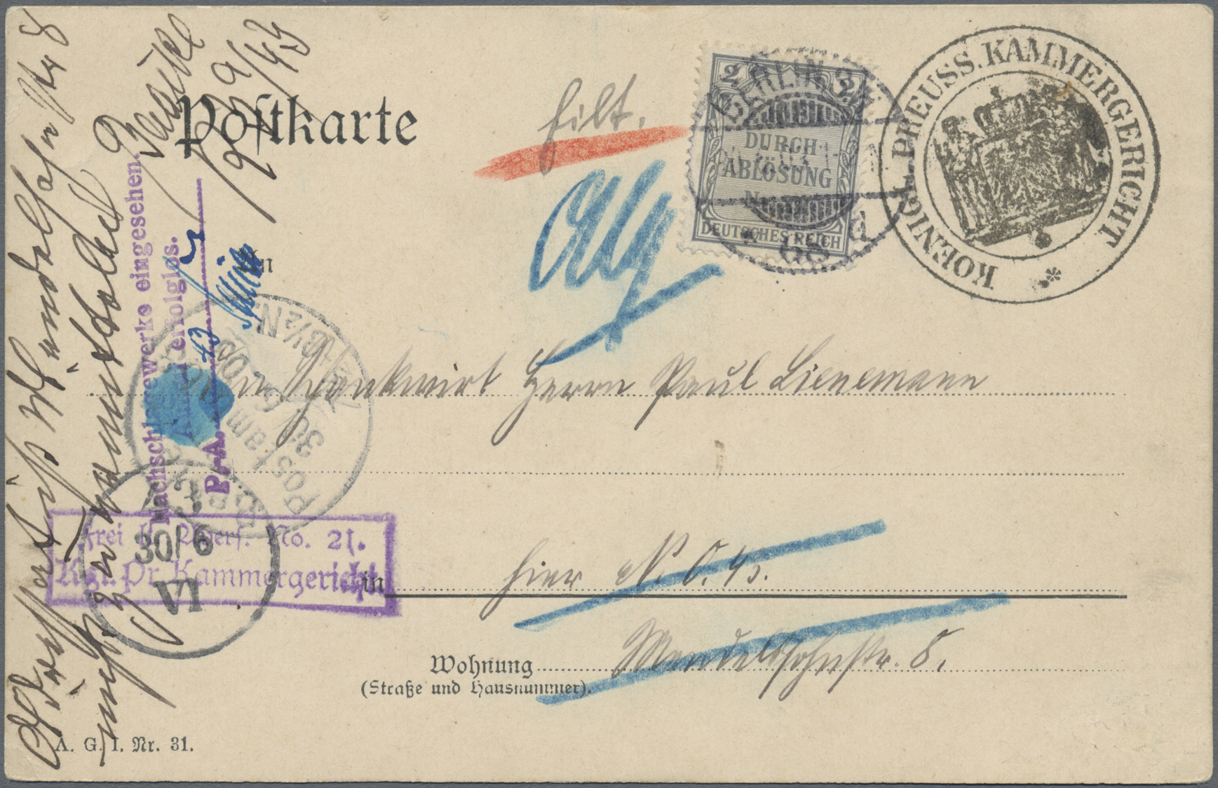 Lot 36786 - Deutsches Reich - Dienstmarken  -  Auktionshaus Christoph Gärtner GmbH & Co. KG Sale #44 Collections Germany