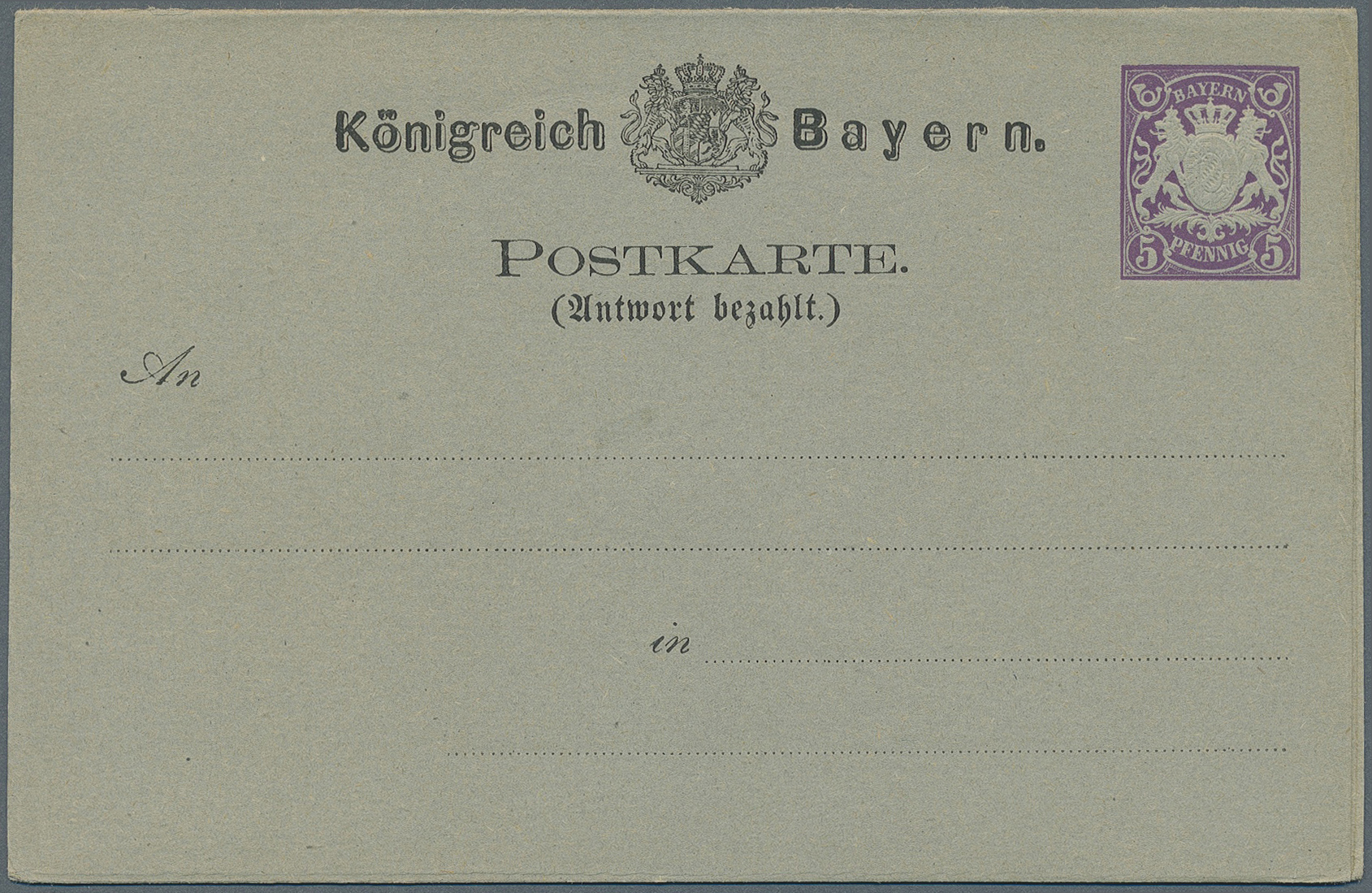 Lot 36314 - bayern - ganzsachen  -  Auktionshaus Christoph Gärtner GmbH & Co. KG Collections Germany,  Collections Supplement, Surprise boxes #39 Day 7