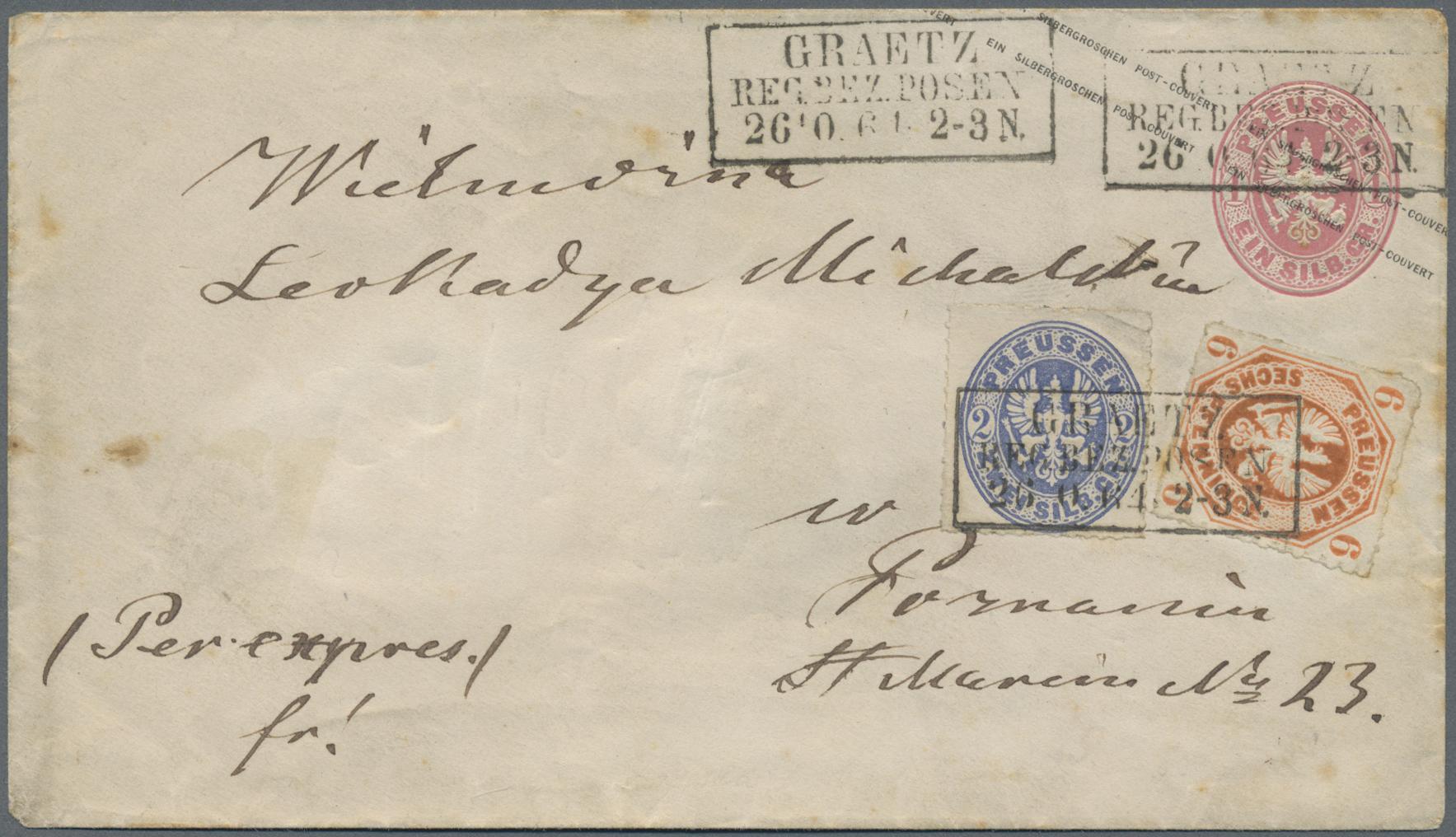 Lot 36277 - Preußen - Marken und Briefe  -  Auktionshaus Christoph Gärtner GmbH & Co. KG Sale #44 Collections Germany