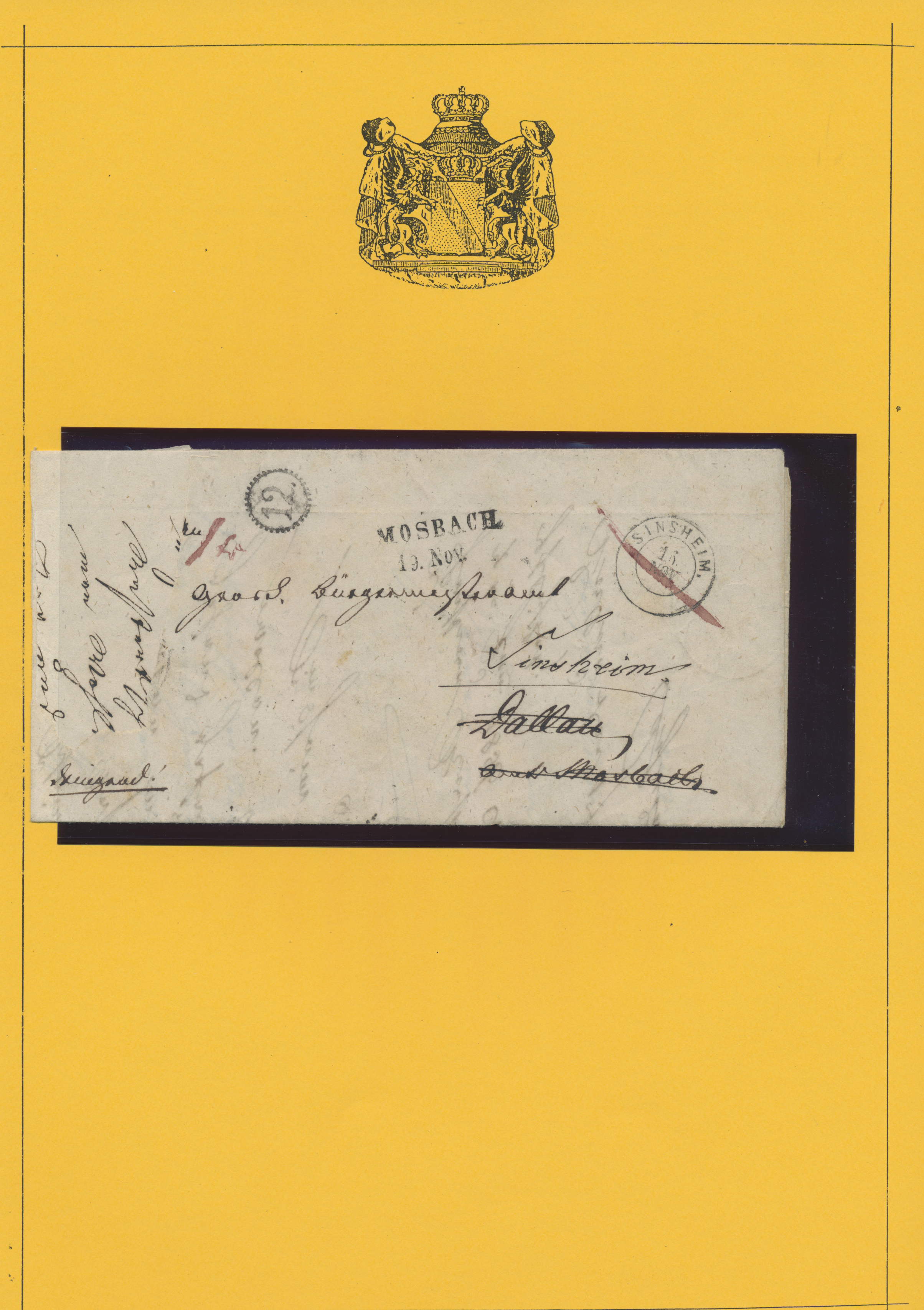 Lot 36138 - Baden - Marken und Briefe  -  Auktionshaus Christoph Gärtner GmbH & Co. KG Sale #44 Collections Germany