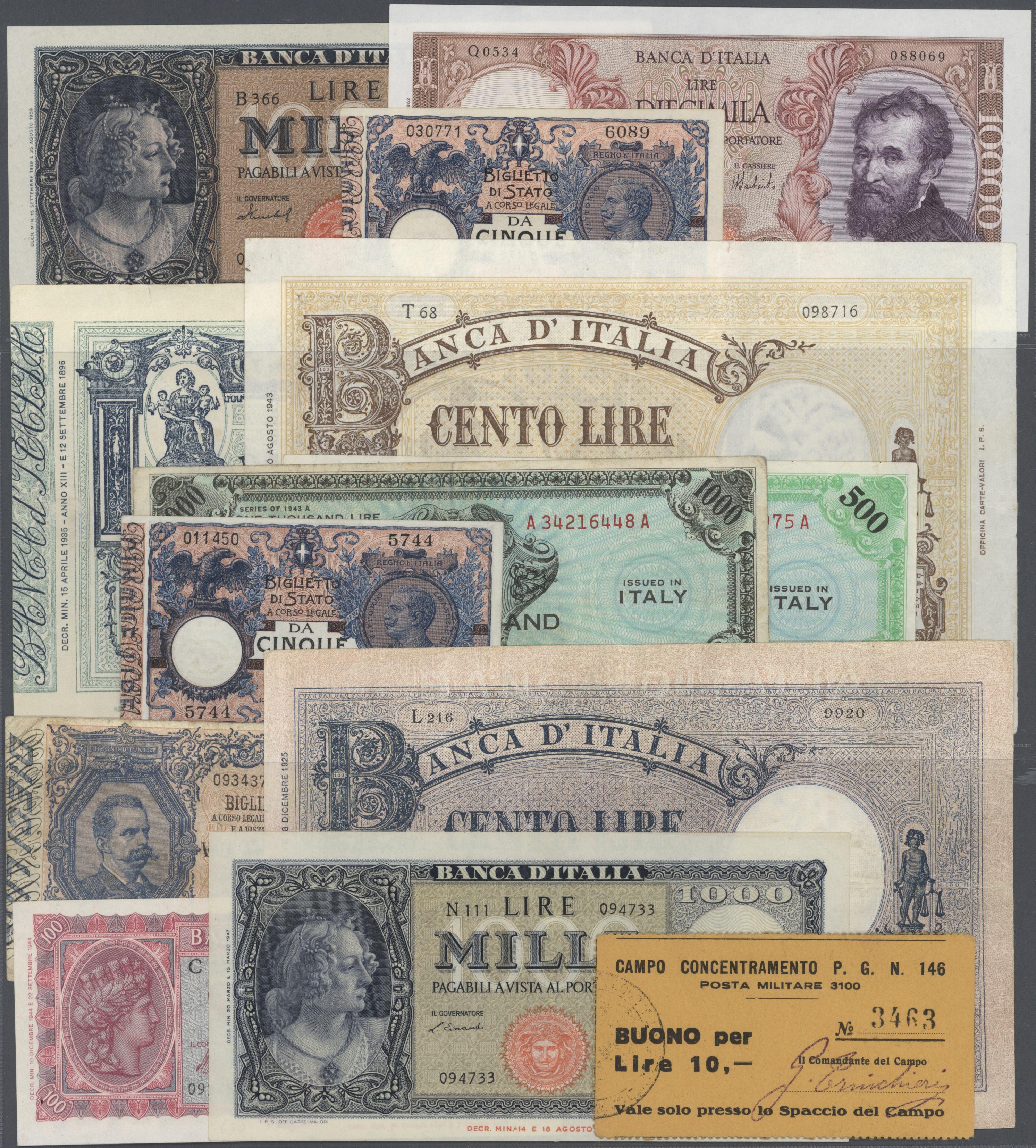 Lot 01056 - Italy / Italien | Banknoten  -  Auktionshaus Christoph Gärtner GmbH & Co. KG Sale #48 The Banknotes