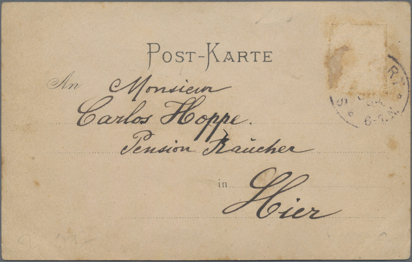 Lot 02614 - Ansichtskarten: Vorläufer  -  Auktionshaus Christoph Gärtner GmbH & Co. KG Special auction