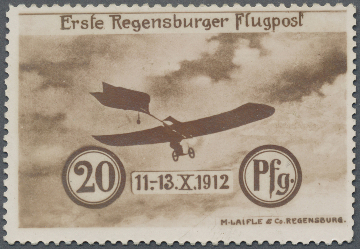 Lot 1281 - Deutsches Reich - Halbamtliche Flugmarken  -  Auktionshaus Christoph Gärtner GmbH & Co. KG Auction #41 Special auction part two
