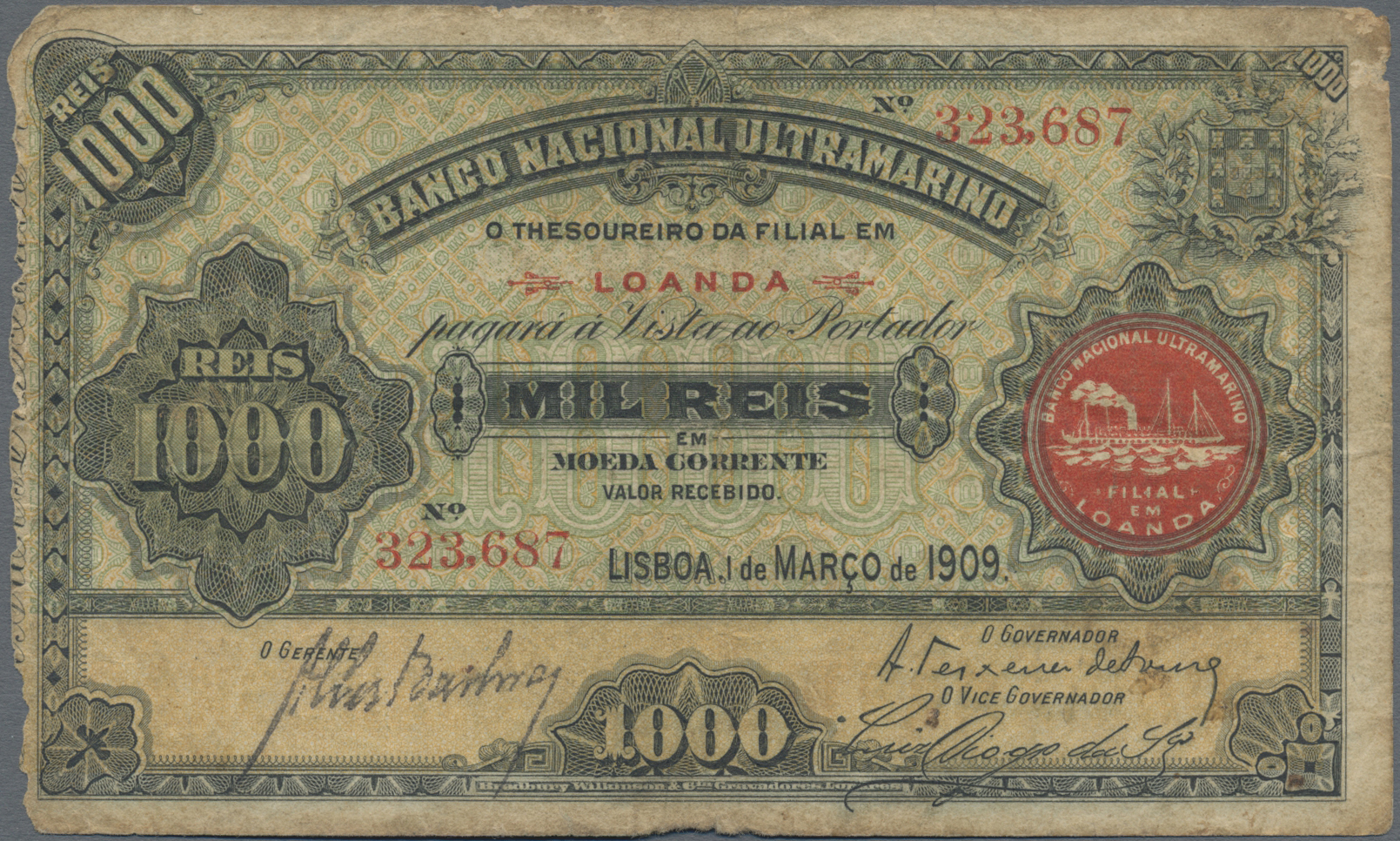 Lot 00012 - Angola | Banknoten  -  Auktionshaus Christoph Gärtner GmbH & Co. KG Sale #48 The Banknotes