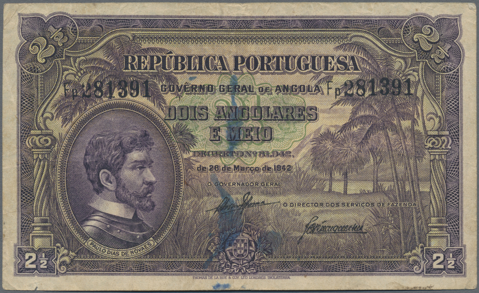 Lot 00014 - Angola | Banknoten  -  Auktionshaus Christoph Gärtner GmbH & Co. KG Sale #48 The Banknotes