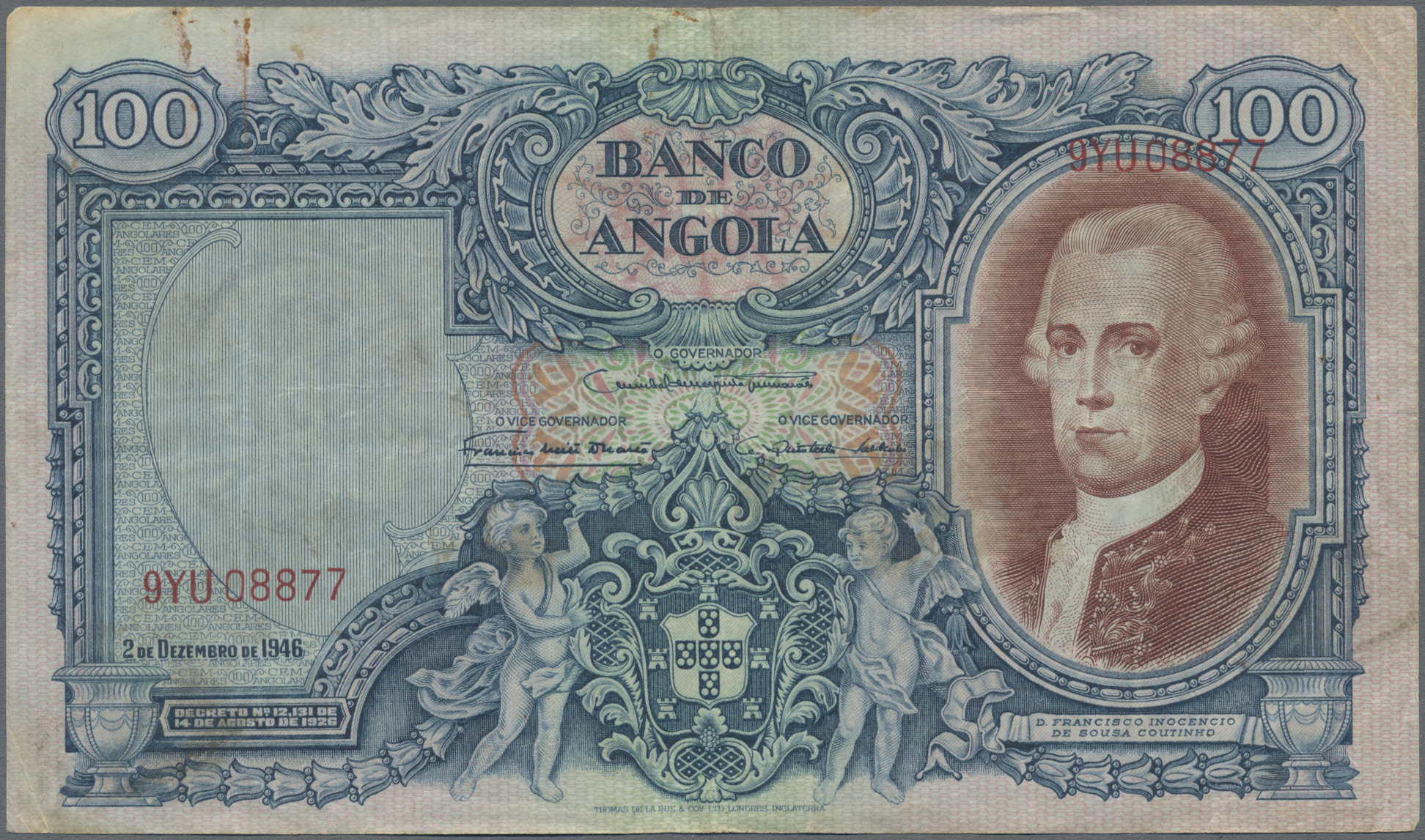 Lot 00015 - Angola | Banknoten  -  Auktionshaus Christoph Gärtner GmbH & Co. KG Sale #48 The Banknotes