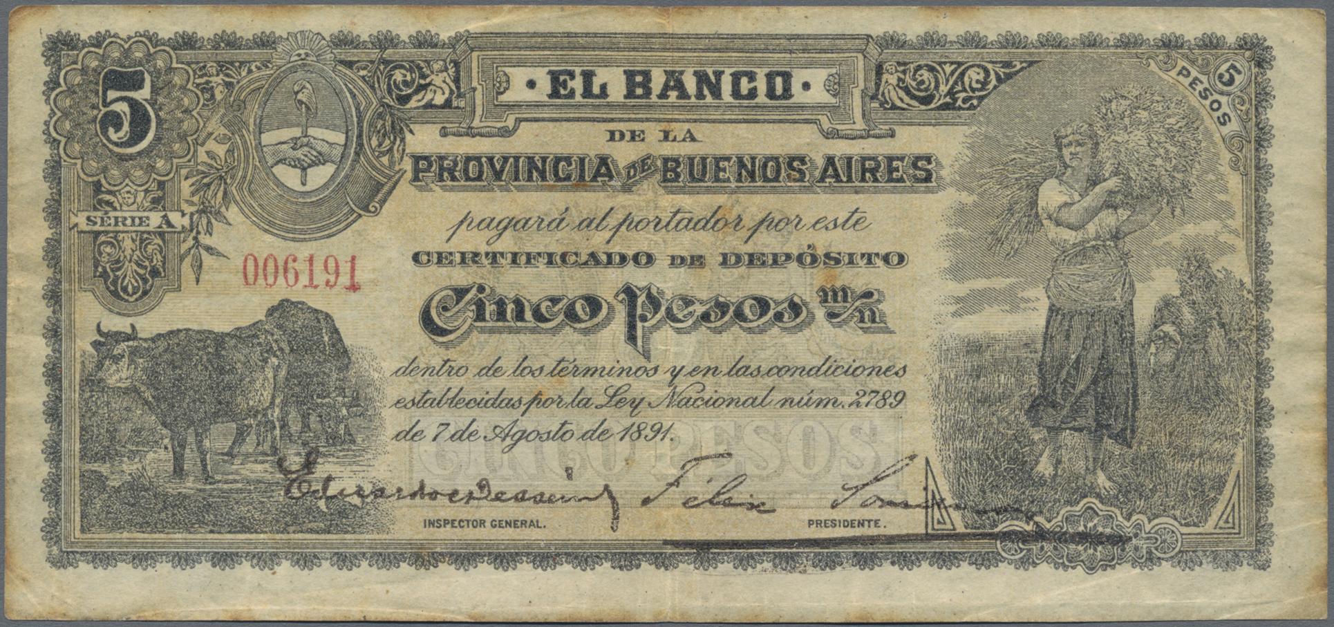Lot 00017 - Argentina / Argentinien | Banknoten  -  Auktionshaus Christoph Gärtner GmbH & Co. KG Sale #48 The Banknotes
