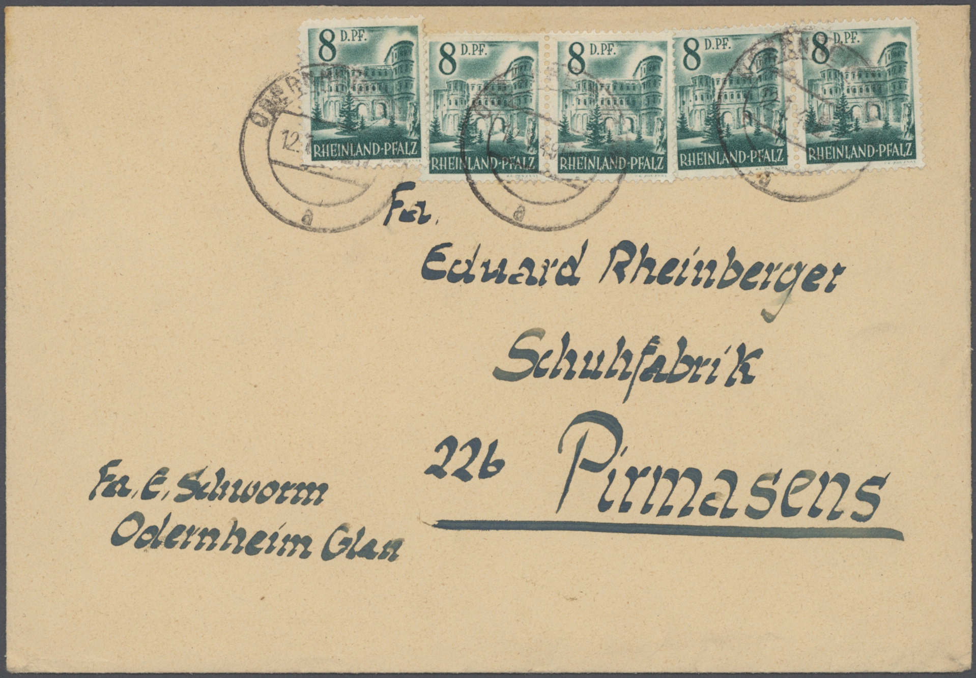 Lot 37499 - französische zone  -  Auktionshaus Christoph Gärtner GmbH & Co. KG Sale #44 Collections Germany