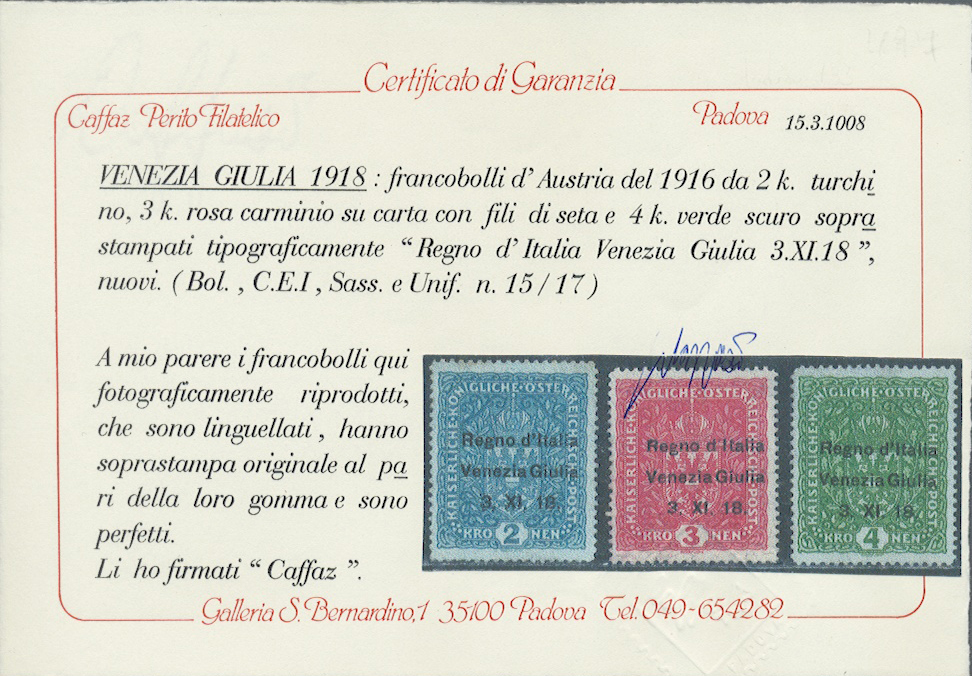 Lot 17128 - Italienische Besetzung 1918/23 - Julisch-Venetien  -  Auktionshaus Christoph Gärtner GmbH & Co. KG Single lots Philately Overseas & Europe. Auction #39 Day 4