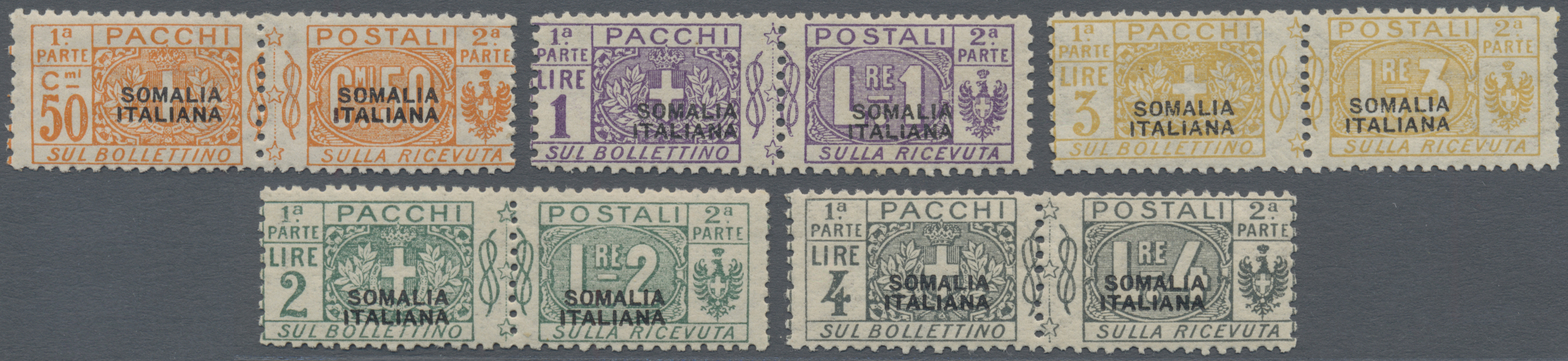 Lot 1065 - Italienisch-Somaliland - Paketmarken  -  Auktionshaus Christoph Gärtner GmbH & Co. KG Auction #41 Special auction part one