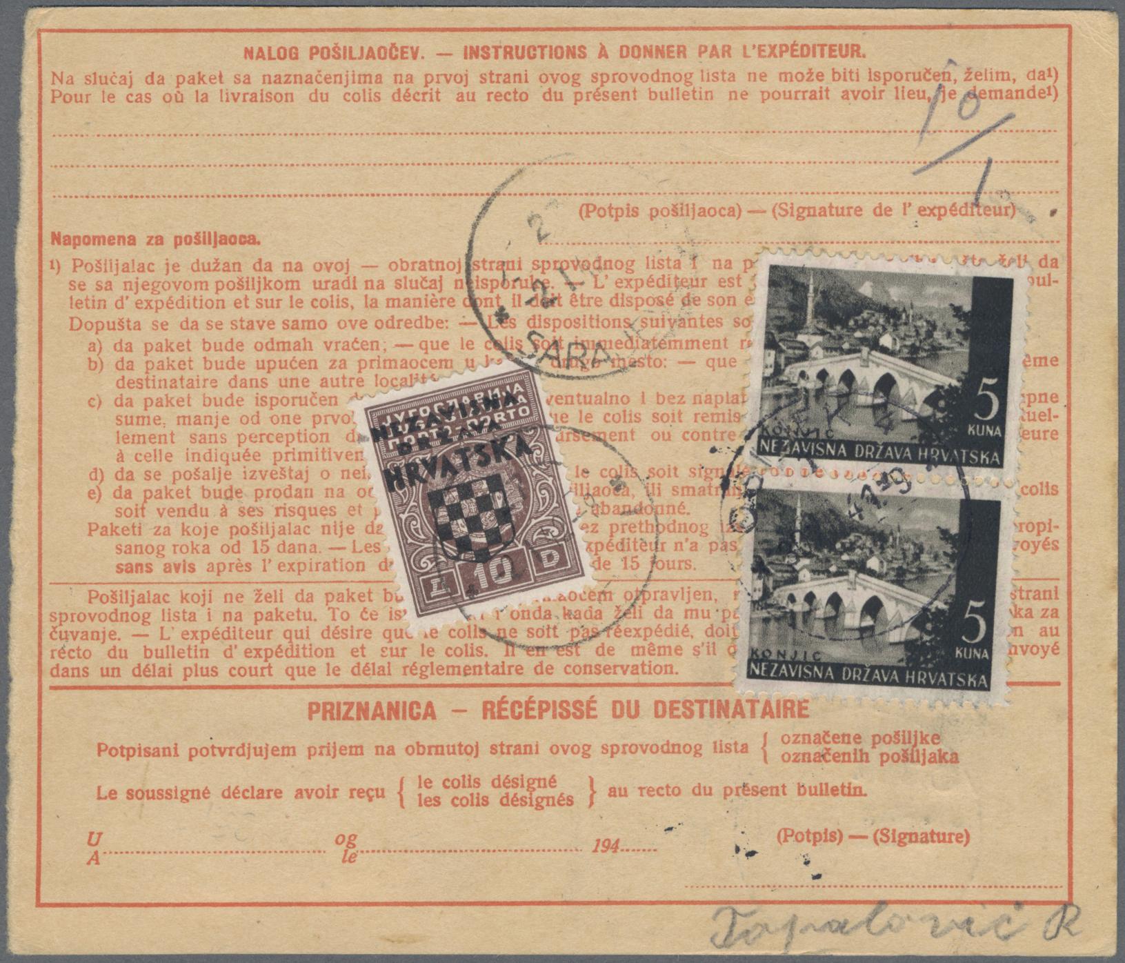 Lot 12117 - Kroatien - Portomarken  -  Auktionshaus Christoph Gärtner GmbH & Co. KG Sale #46 Single lots Asia, Thematics, Overseas, Europe …
