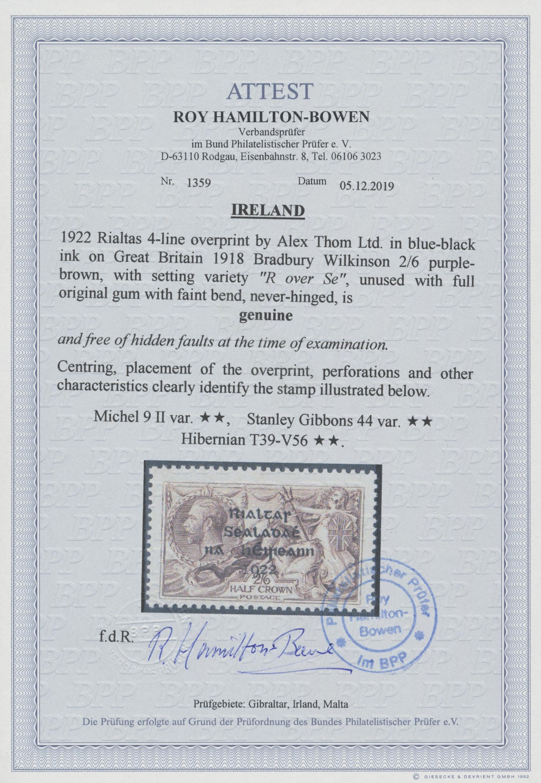 Lot 11662 - irland  -  Auktionshaus Christoph Gärtner GmbH & Co. KG Sale #46 Single lots Asia, Thematics, Overseas, Europe …