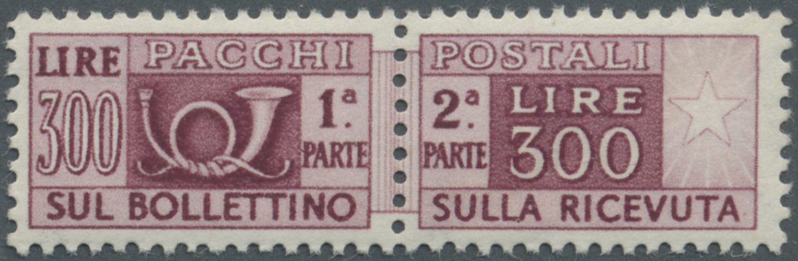 Lot 17105 - italien - paketmarken  -  Auktionshaus Christoph Gärtner GmbH & Co. KG Single lots Philately Overseas & Europe. Auction #39 Day 4
