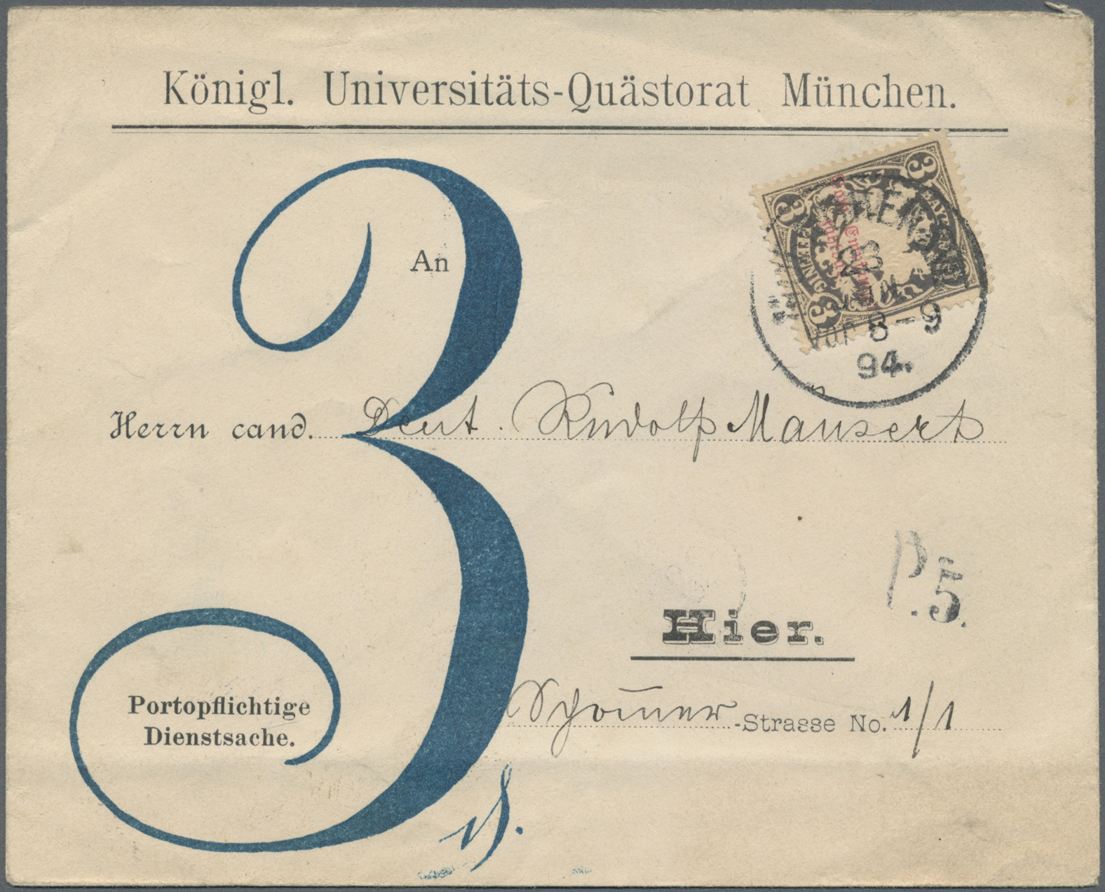 Lot 31217 - Bayern - Portomarken  -  Auktionshaus Christoph Gärtner GmbH & Co. KG Auction #40 Collections Germany, Wunderkartons