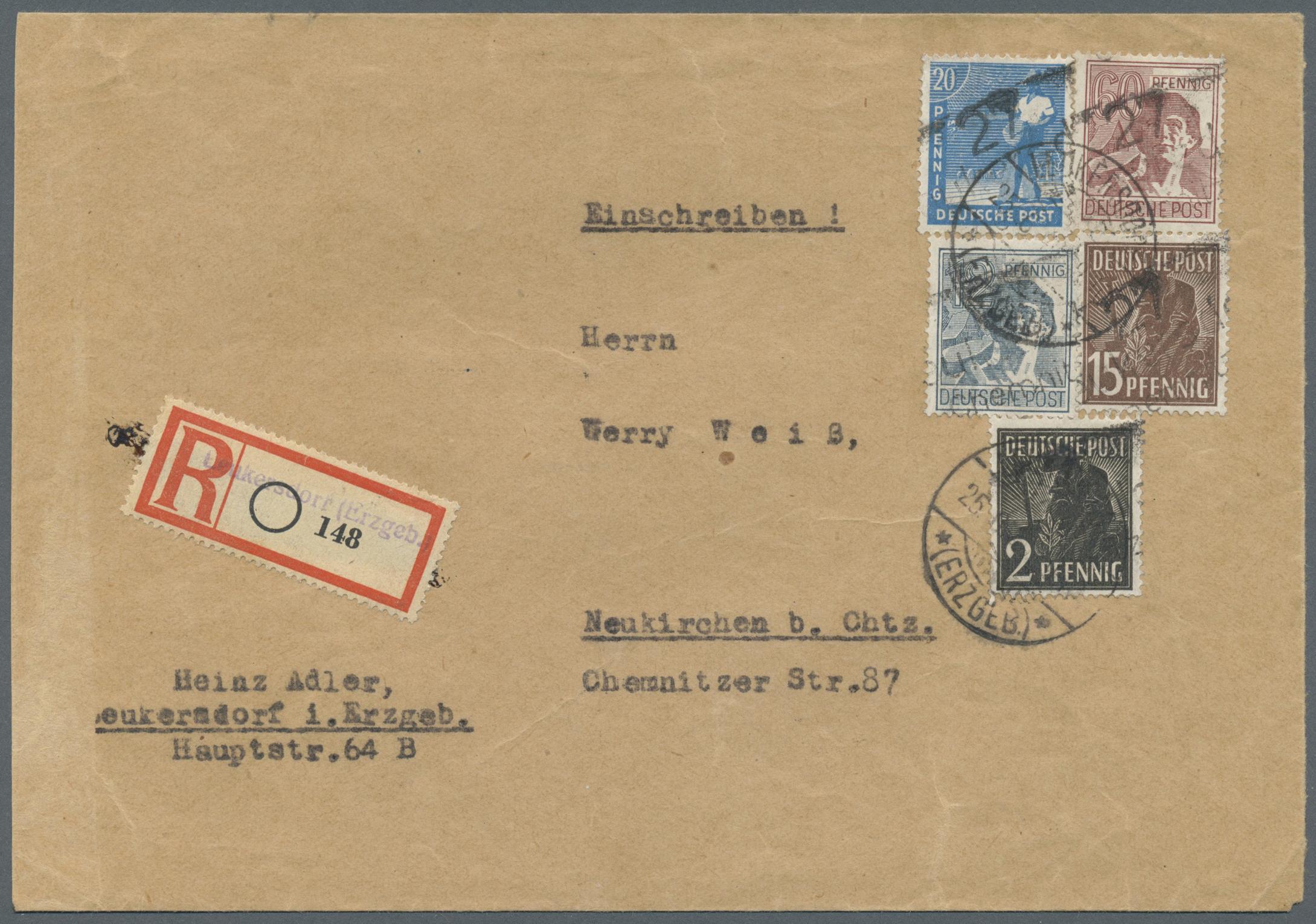 Lot 24245 - Sowjetische Zone - Bezirkshandstempel - V - Bez. 27 (Leipzig)  -  Auktionshaus Christoph Gärtner GmbH & Co. KG Single lots Germany + Picture Postcards. Auction #39 Day 5
