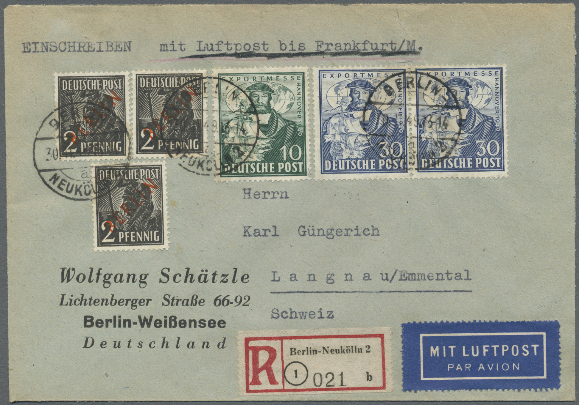 Lot 24849 - Berlin - Besonderheiten  -  Auktionshaus Christoph Gärtner GmbH & Co. KG Single lots Germany + Picture Postcards. Auction #39 Day 5