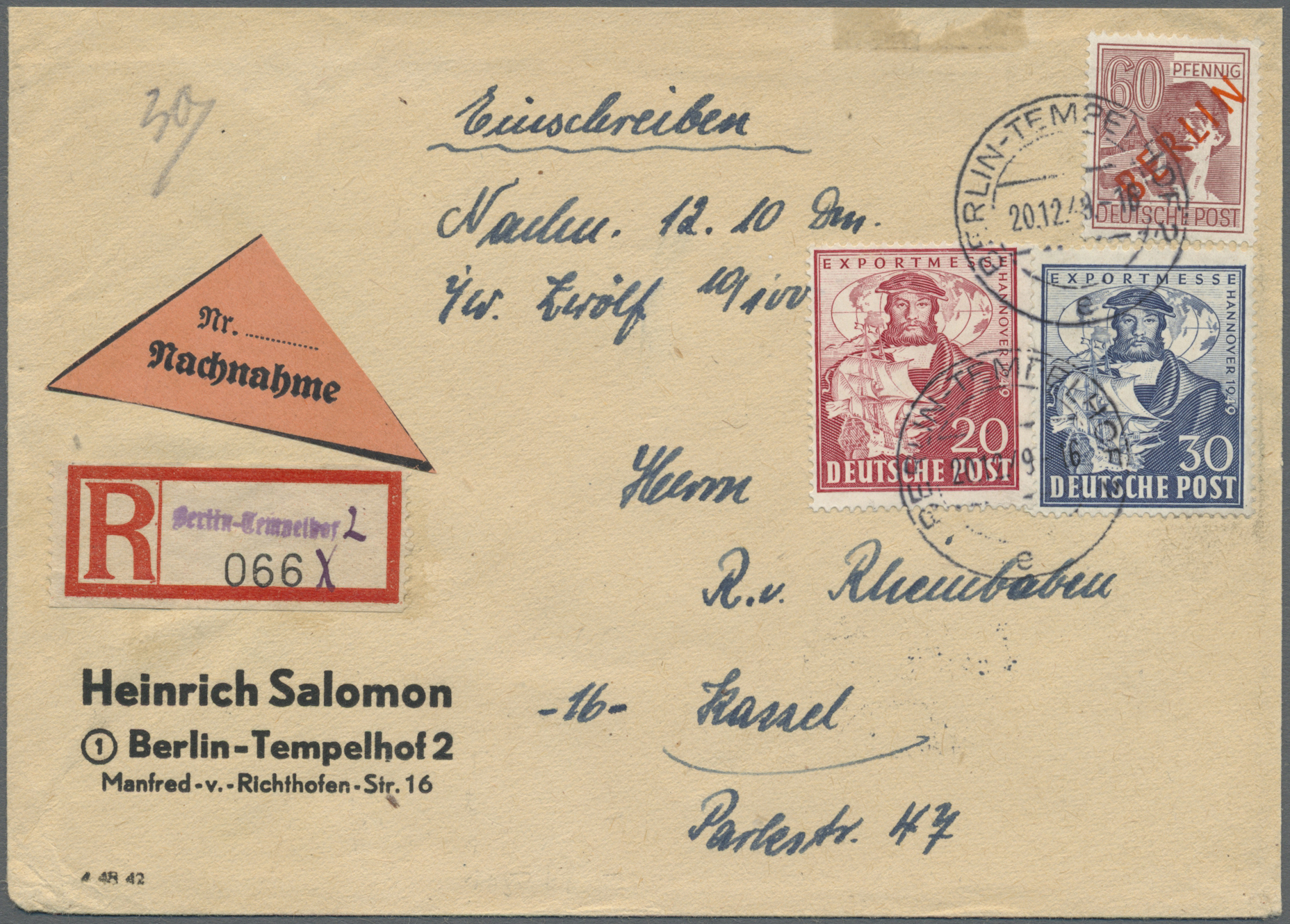 Lot 24851 - Berlin - Besonderheiten  -  Auktionshaus Christoph Gärtner GmbH & Co. KG Single lots Germany + Picture Postcards. Auction #39 Day 5