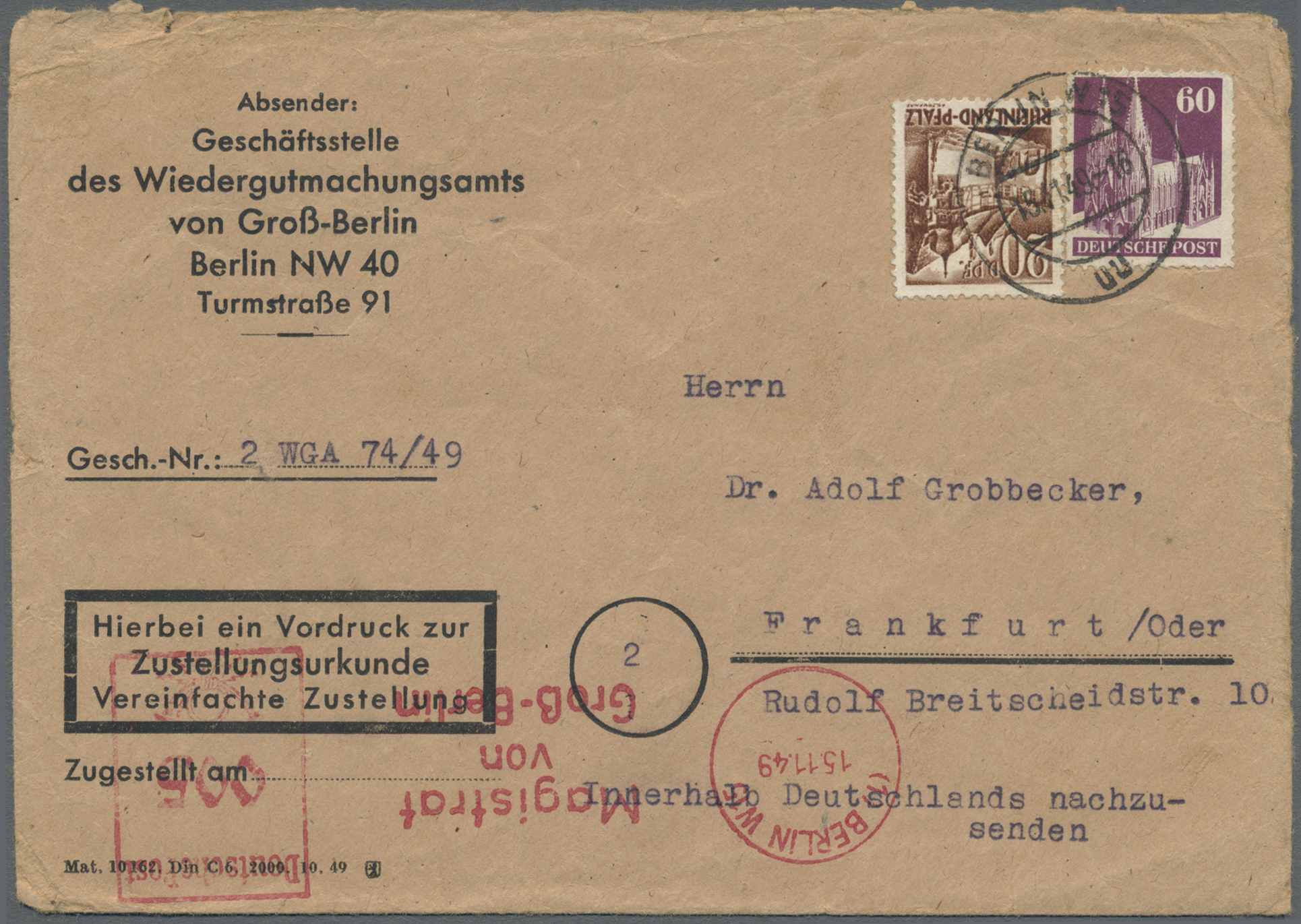 Lot 24850 - Berlin - Besonderheiten  -  Auktionshaus Christoph Gärtner GmbH & Co. KG Single lots Germany + Picture Postcards. Auction #39 Day 5