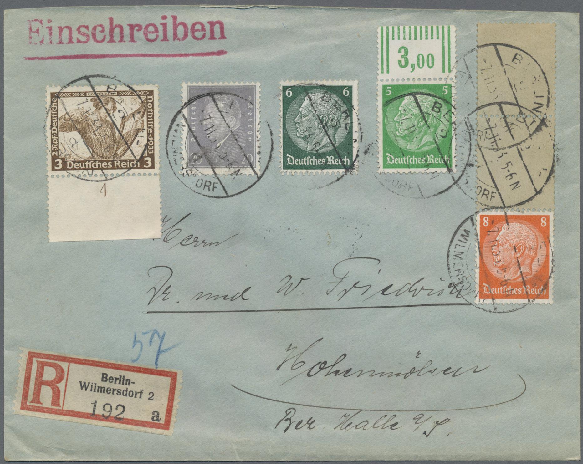 Lot 36785 - Deutsches Reich - Rollenmarken  -  Auktionshaus Christoph Gärtner GmbH & Co. KG Sale #44 Collections Germany