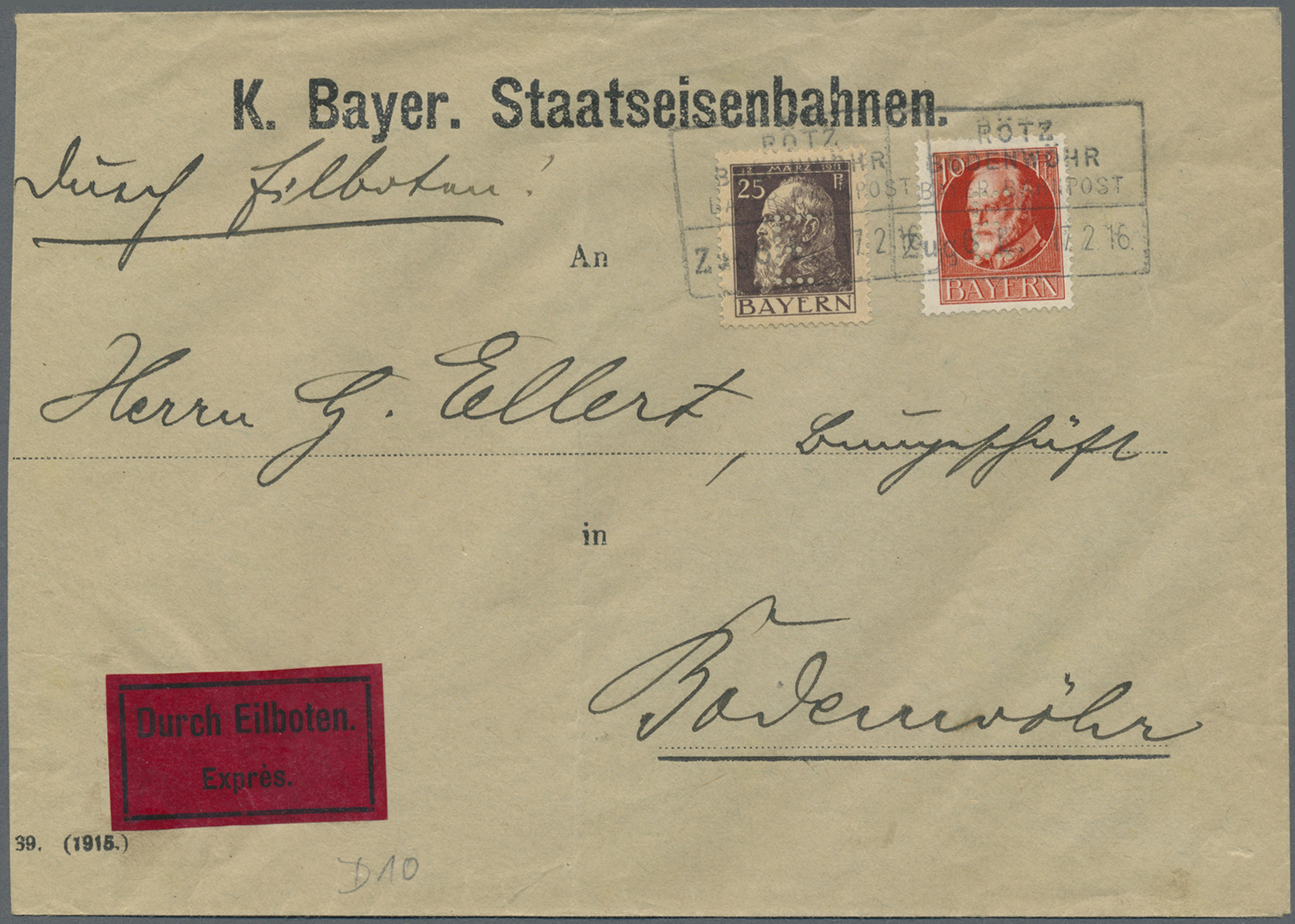 Lot 36295 - bayern - dienstmarken  -  Auktionshaus Christoph Gärtner GmbH & Co. KG Collections Germany,  Collections Supplement, Surprise boxes #39 Day 7
