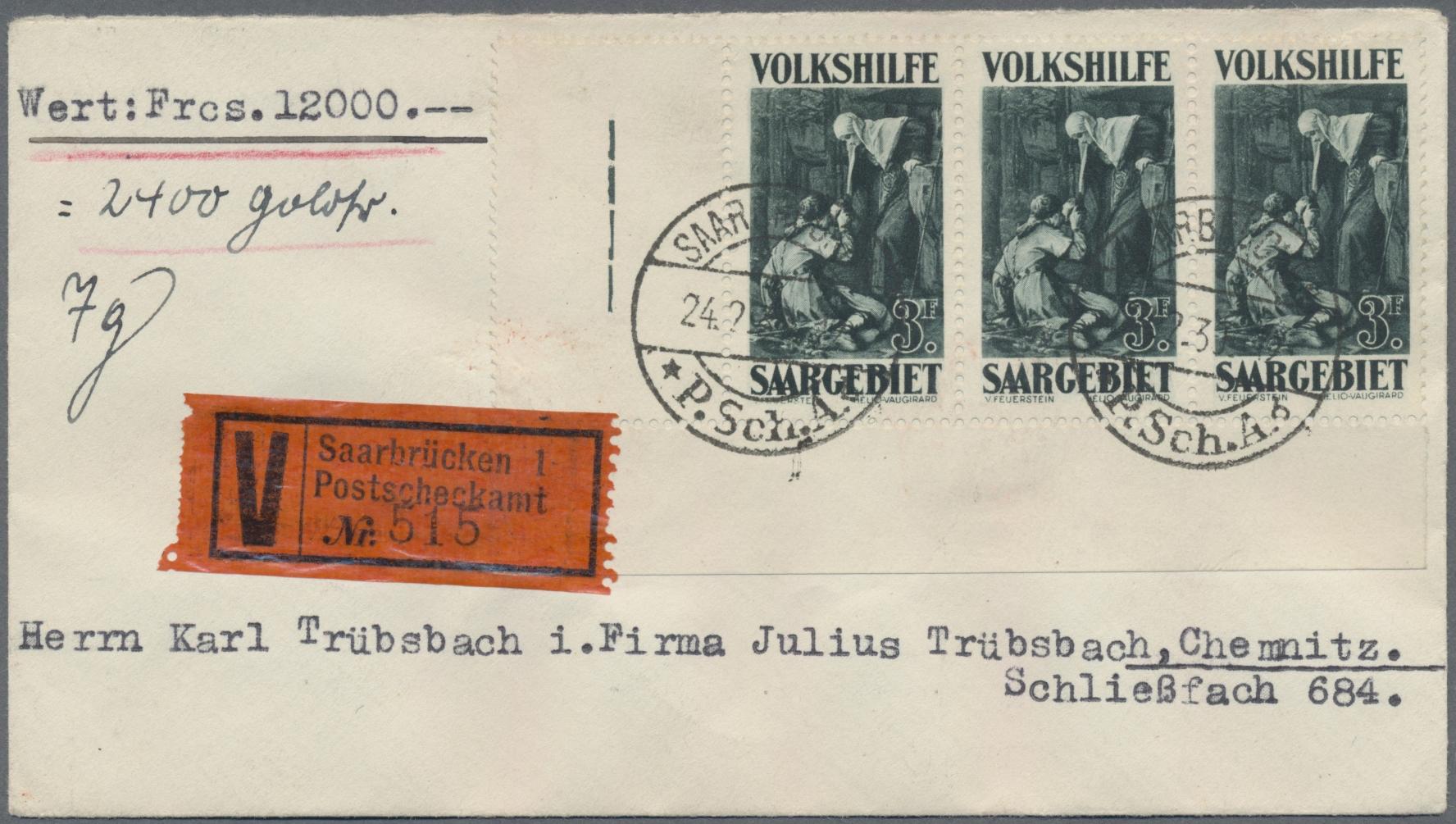 Stamp Auction - saar Saargebiet - Markenausgaben - Auction