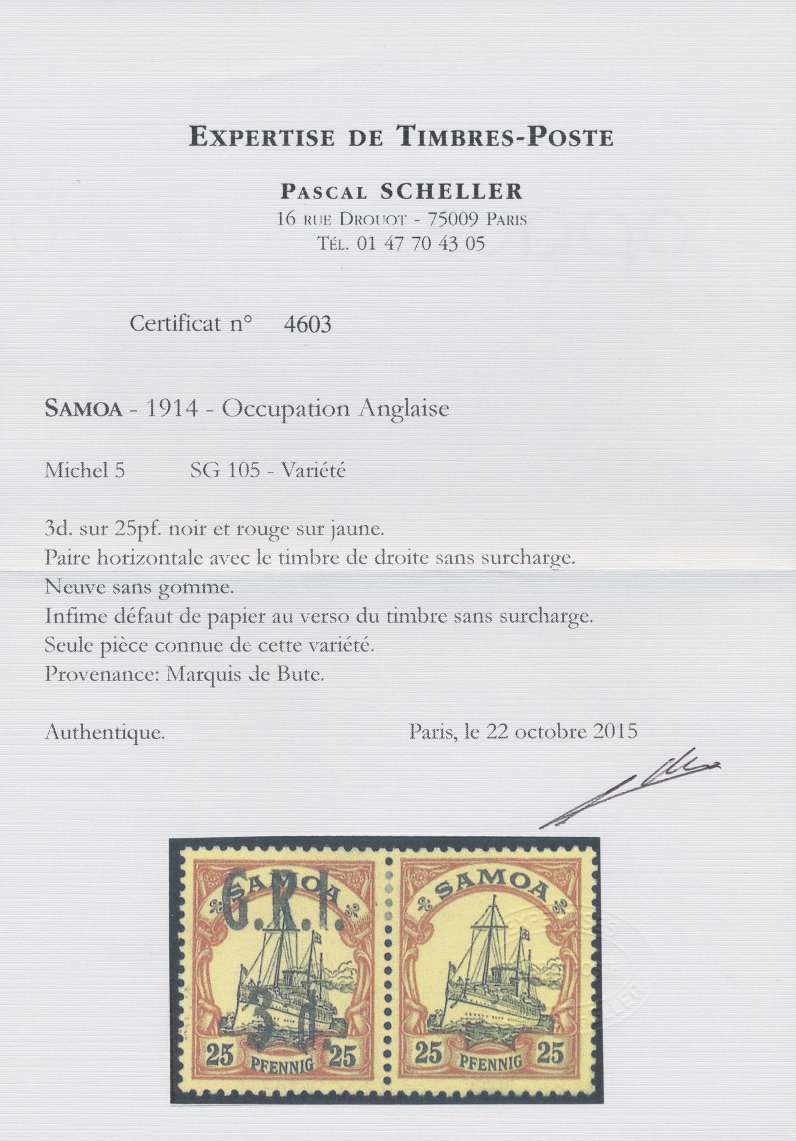 Lot 1300 - Deutsche Kolonien - Samoa - Britische Besetzung  -  Auktionshaus Christoph Gärtner GmbH & Co. KG Auction #41 Special auction part two
