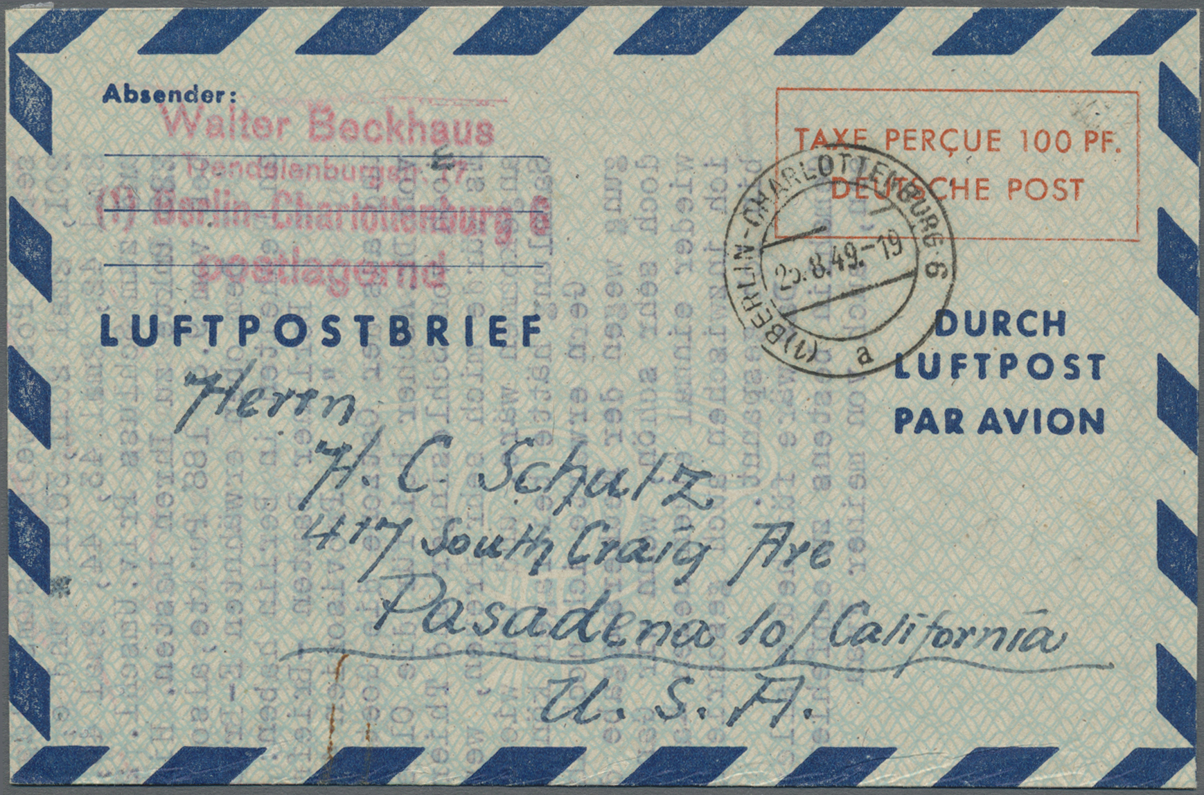Lot 24848 - Berlin - Besonderheiten  -  Auktionshaus Christoph Gärtner GmbH & Co. KG Single lots Germany + Picture Postcards. Auction #39 Day 5