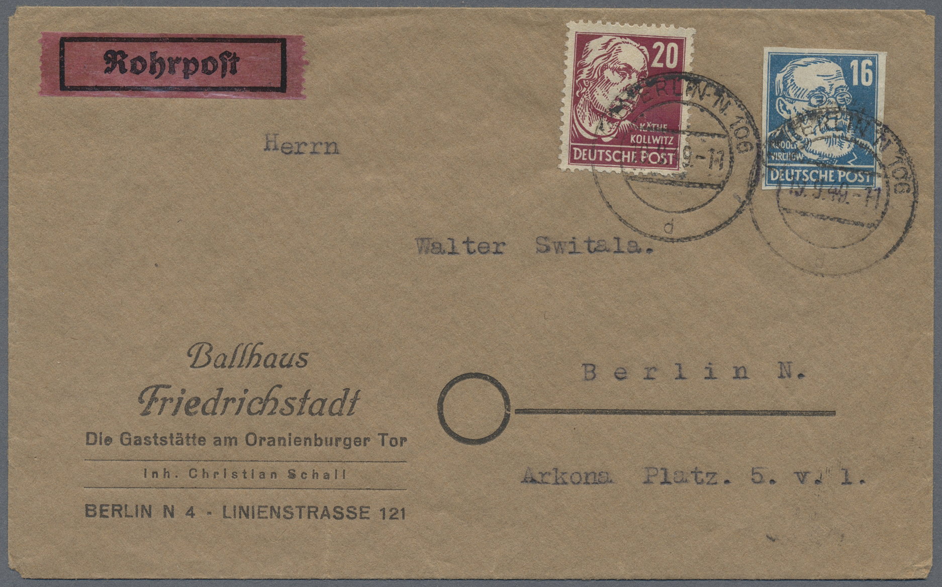 Lot 24852 - Berlin - Besonderheiten  -  Auktionshaus Christoph Gärtner GmbH & Co. KG Single lots Germany + Picture Postcards. Auction #39 Day 5