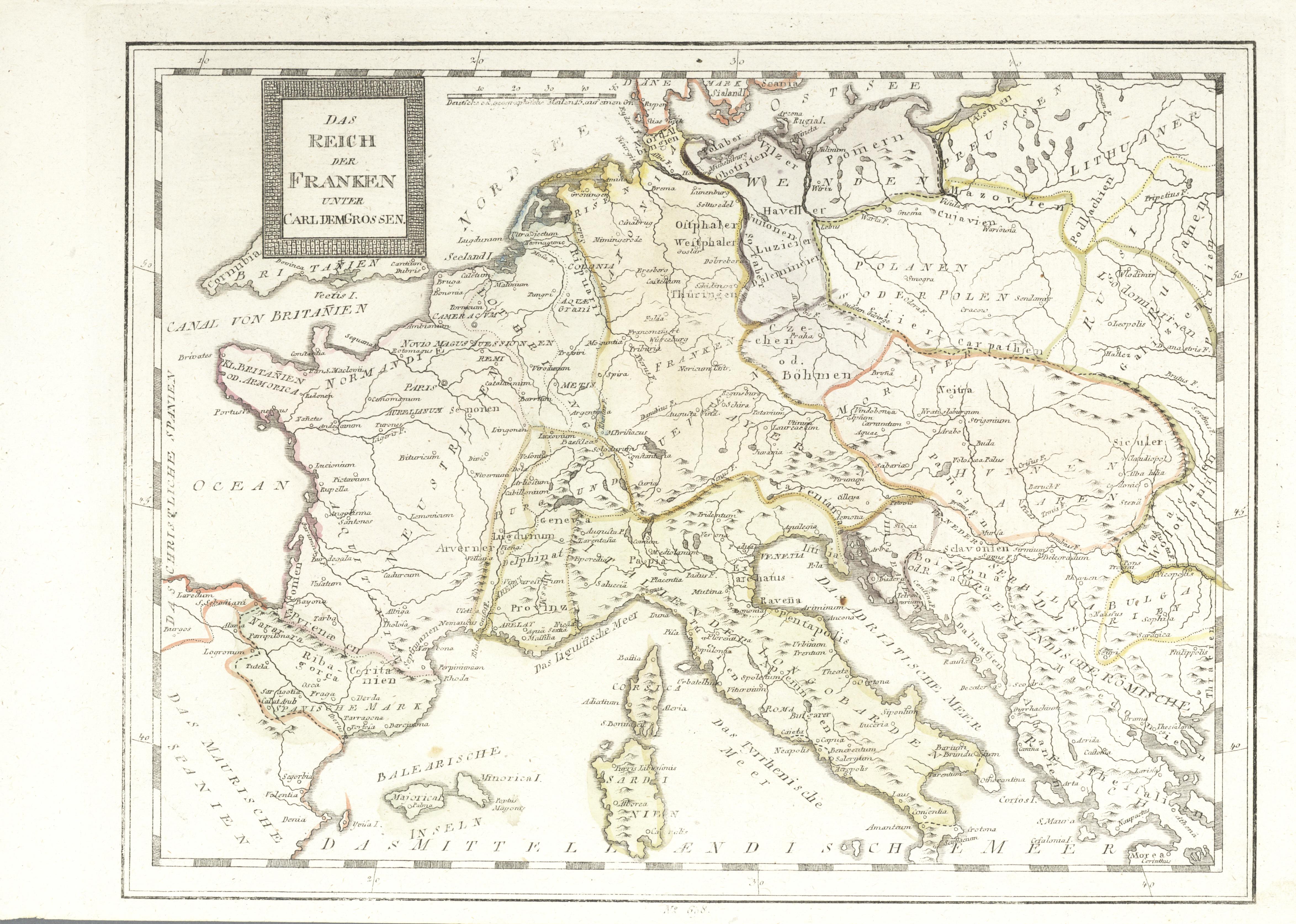 Stamp Auction Landkarten Und Stiche Sale 44 Germany Picture