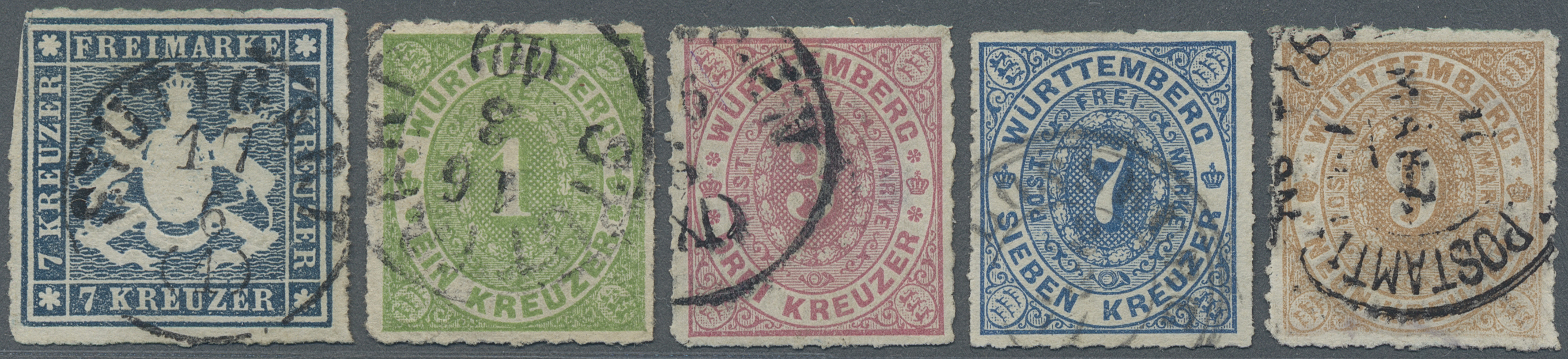 Lot 36316 - Württemberg - Marken und Briefe  -  Auktionshaus Christoph Gärtner GmbH & Co. KG Sale #44 Collections Germany