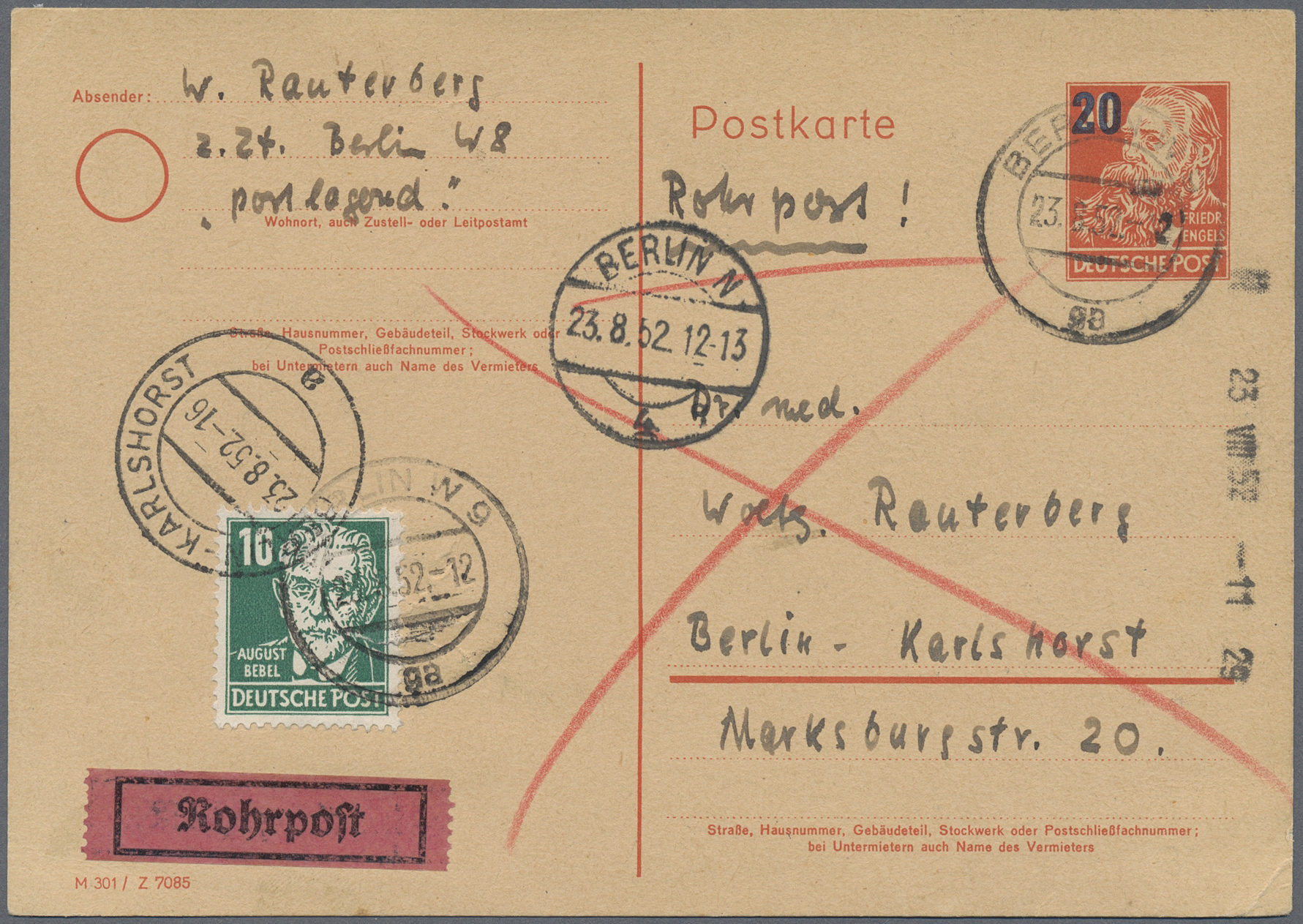 Lot 24862 - Berlin - Besonderheiten  -  Auktionshaus Christoph Gärtner GmbH & Co. KG Single lots Germany + Picture Postcards. Auction #39 Day 5