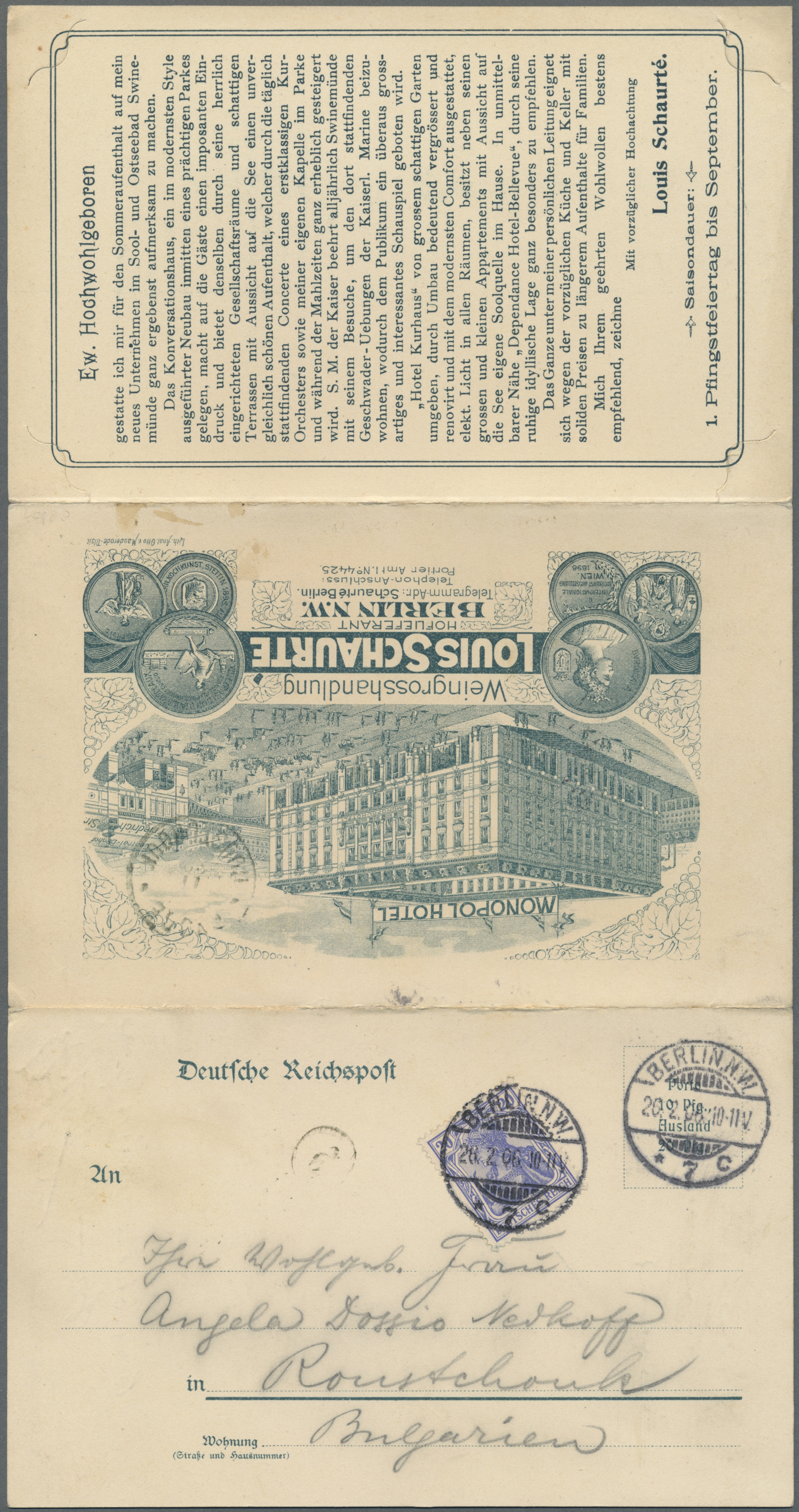 Lot 11001 - thematik: alkohol-wein / alcohol-wine  -  Auktionshaus Christoph Gärtner GmbH & Co. KG Single lots Philately Overseas & Europe. Auction #39 Day 4