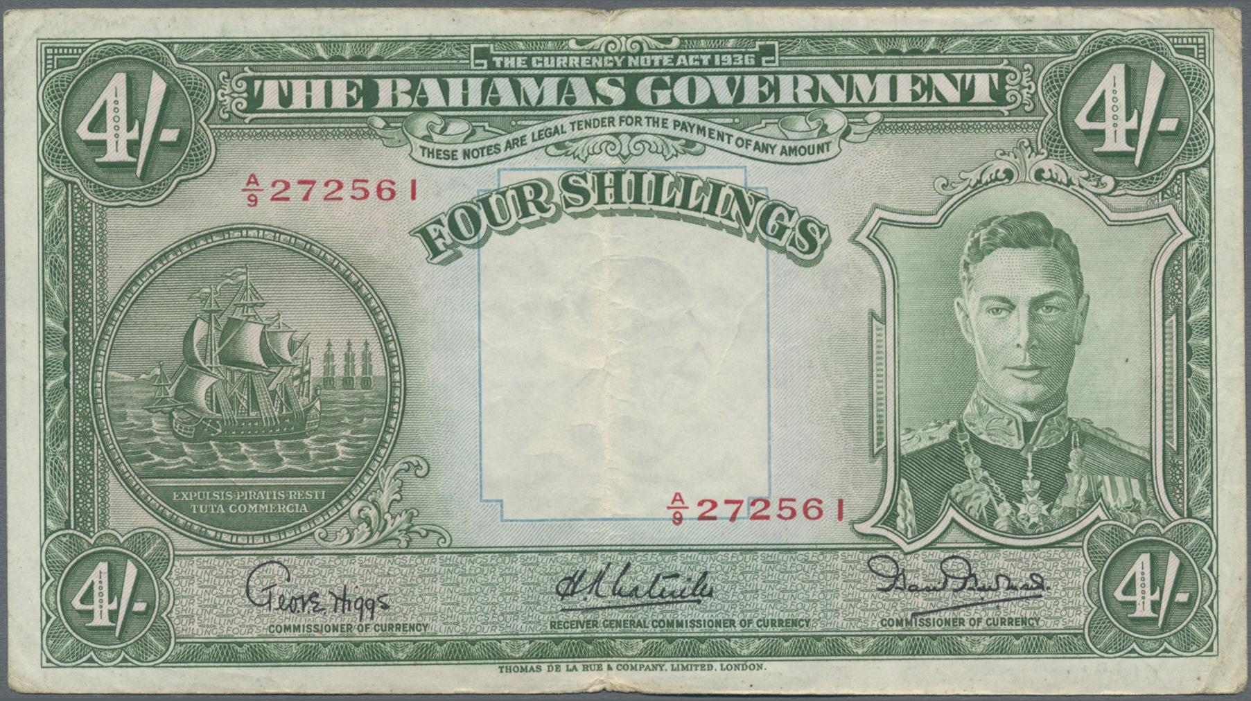 Lot 00056 - Bahamas | Banknoten  -  Auktionshaus Christoph Gärtner GmbH & Co. KG Sale #48 The Banknotes