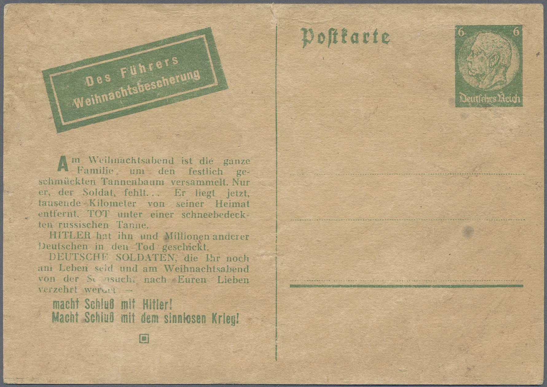 Lot 23592 - Kriegs- und Propagandafälschungen  -  Auktionshaus Christoph Gärtner GmbH & Co. KG Single lots Germany + Picture Postcards. Auction #39 Day 5