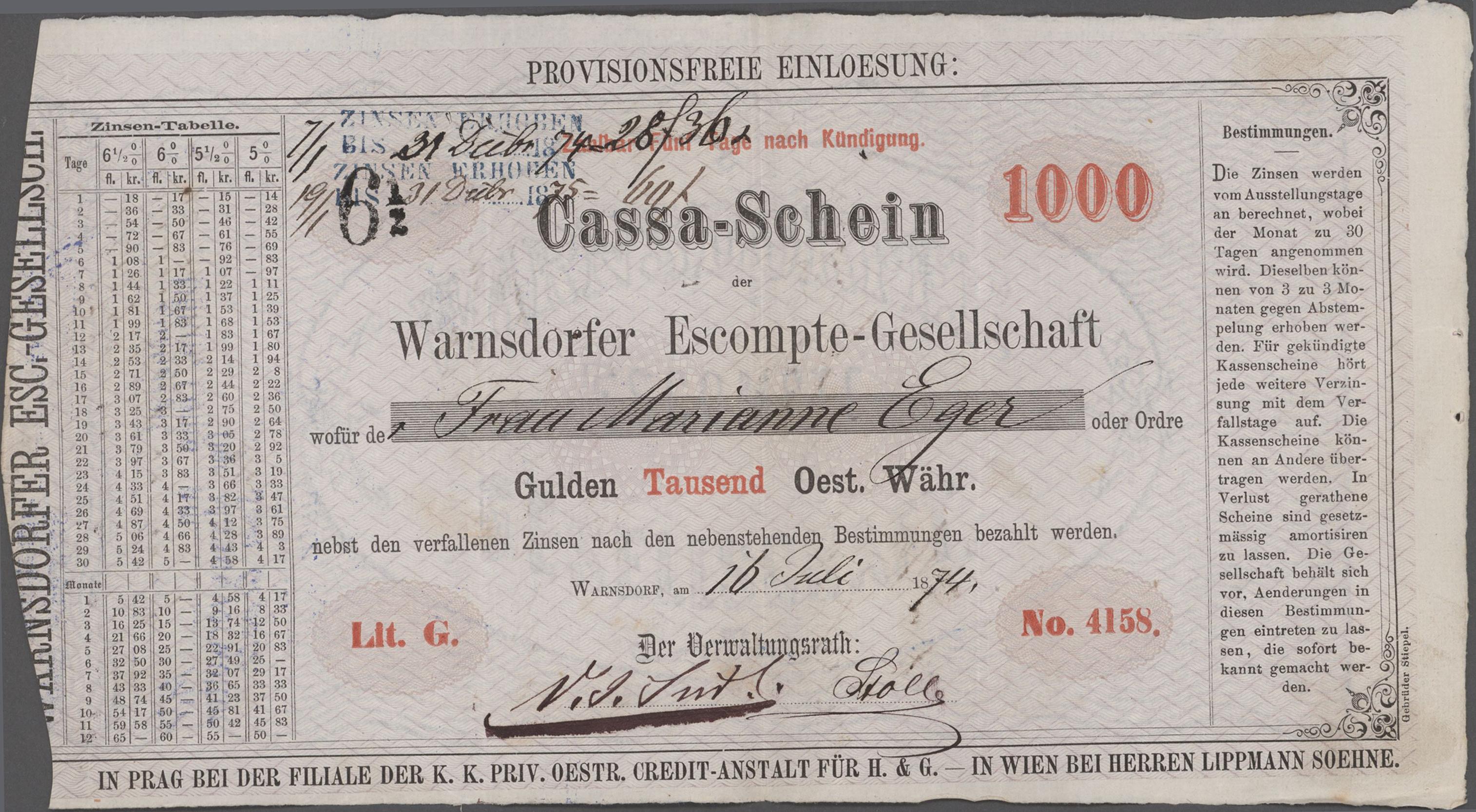 Lot 00941 - Austria / Österreich | Banknoten  -  Auktionshaus Christoph Gärtner GmbH & Co. KG Sale #48 The Banknotes