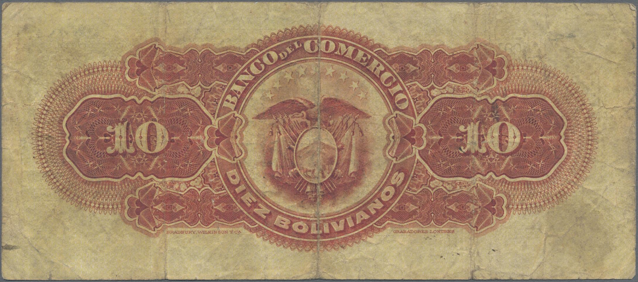 Lot 00064 - Bolivia / Bolivien | Banknoten  -  Auktionshaus Christoph Gärtner GmbH & Co. KG Sale #48 The Banknotes