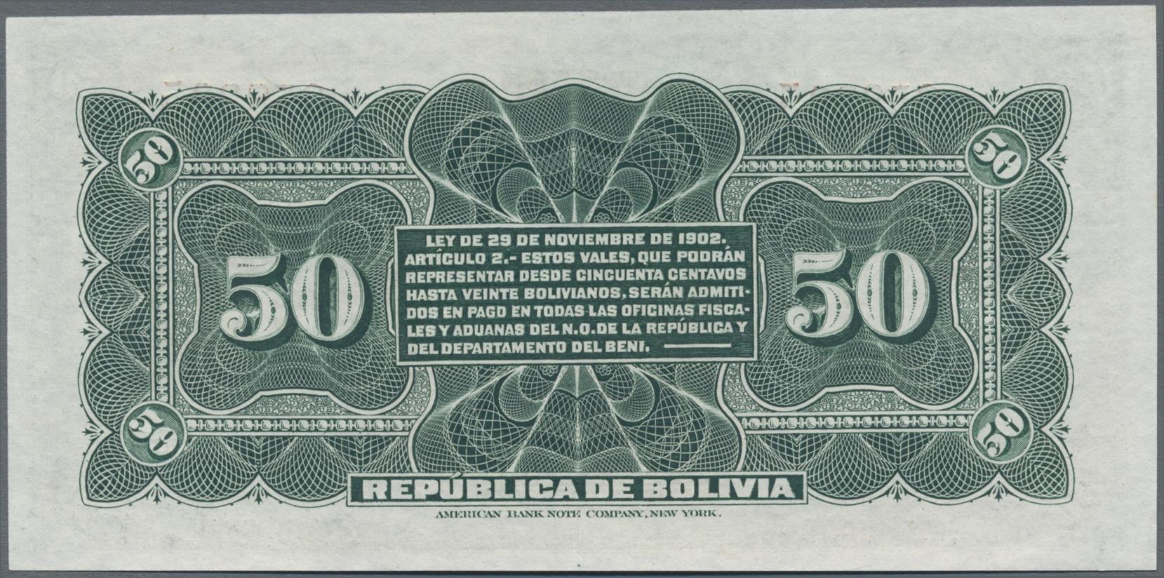 Lot 00062 - Bolivia / Bolivien | Banknoten  -  Auktionshaus Christoph Gärtner GmbH & Co. KG Sale #48 The Banknotes