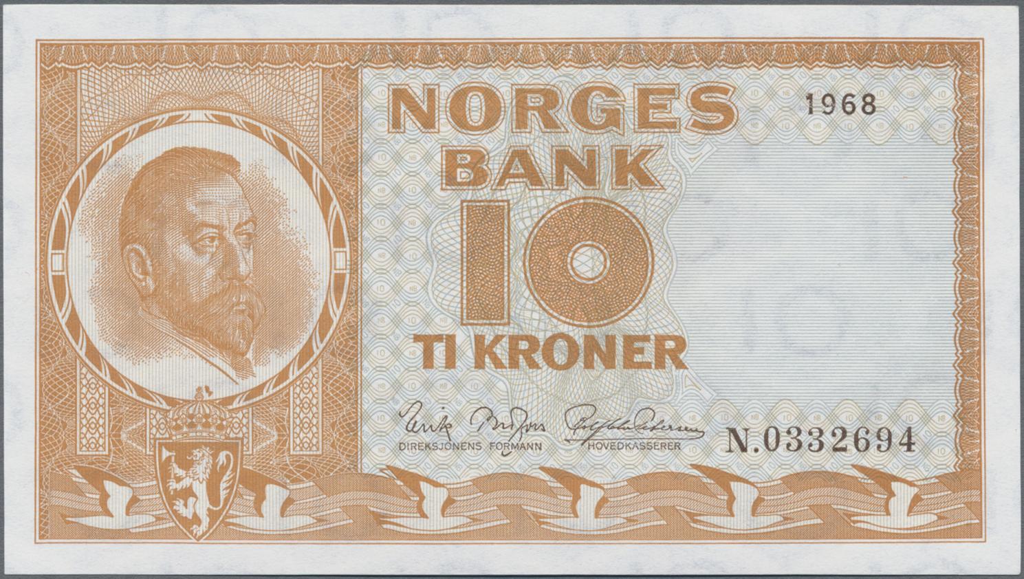Lot 00574 - Norway / Norwegen | Banknoten  -  Auktionshaus Christoph Gärtner GmbH & Co. KG Sale #48 The Banknotes