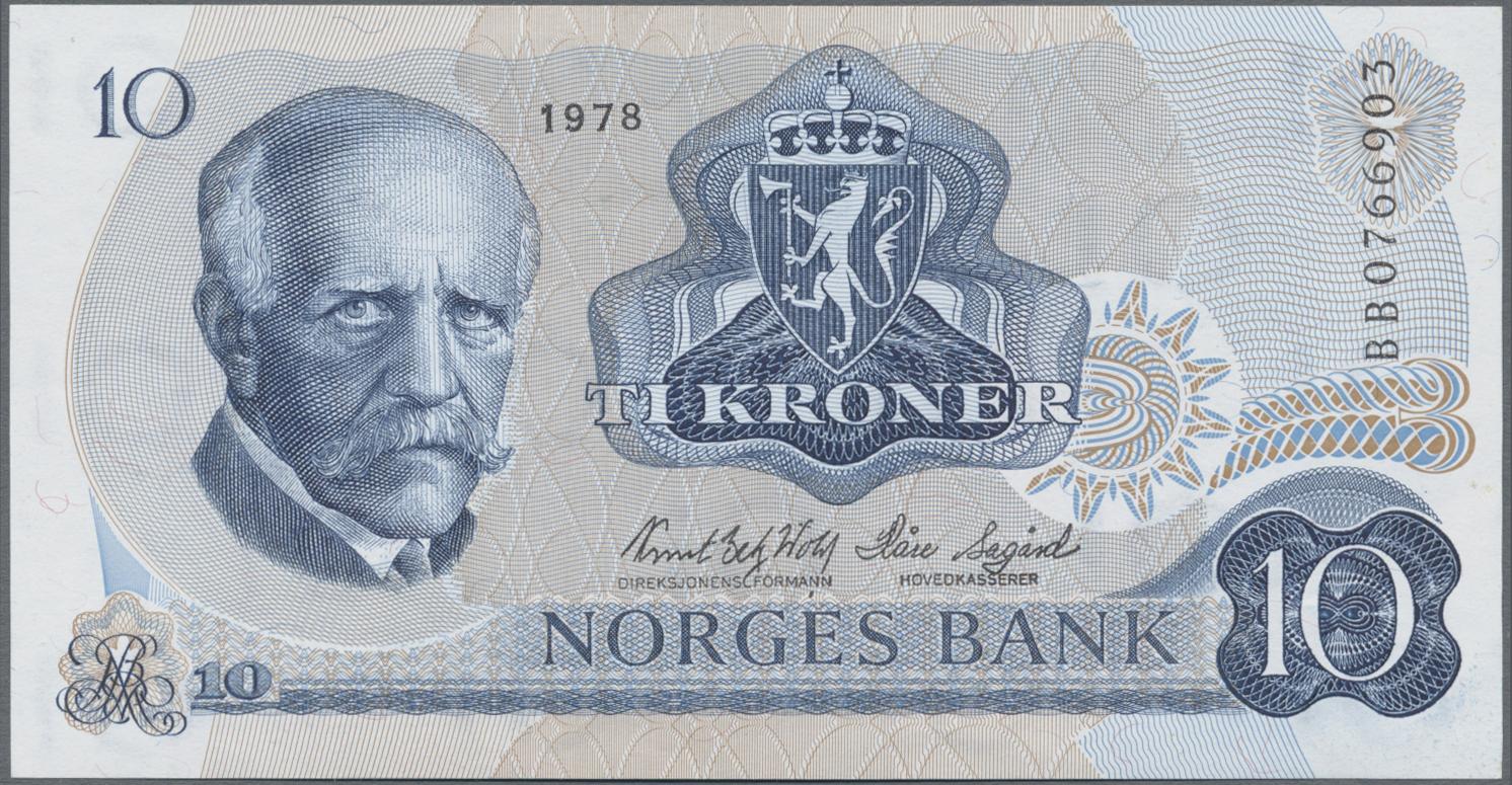 Lot 00576 - Norway / Norwegen | Banknoten  -  Auktionshaus Christoph Gärtner GmbH & Co. KG Sale #48 The Banknotes