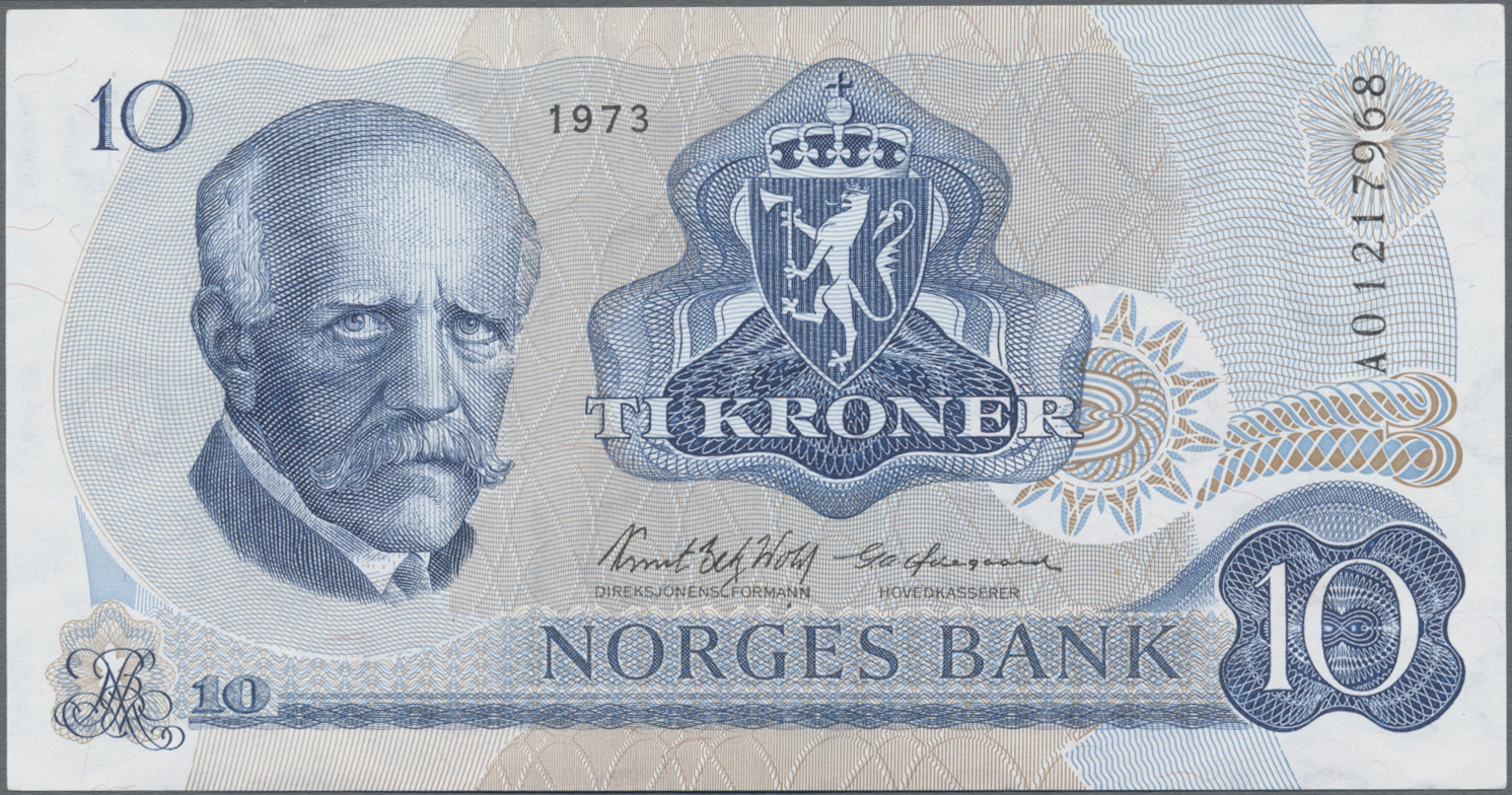 Lot 00575 - Norway / Norwegen | Banknoten  -  Auktionshaus Christoph Gärtner GmbH & Co. KG Sale #48 The Banknotes