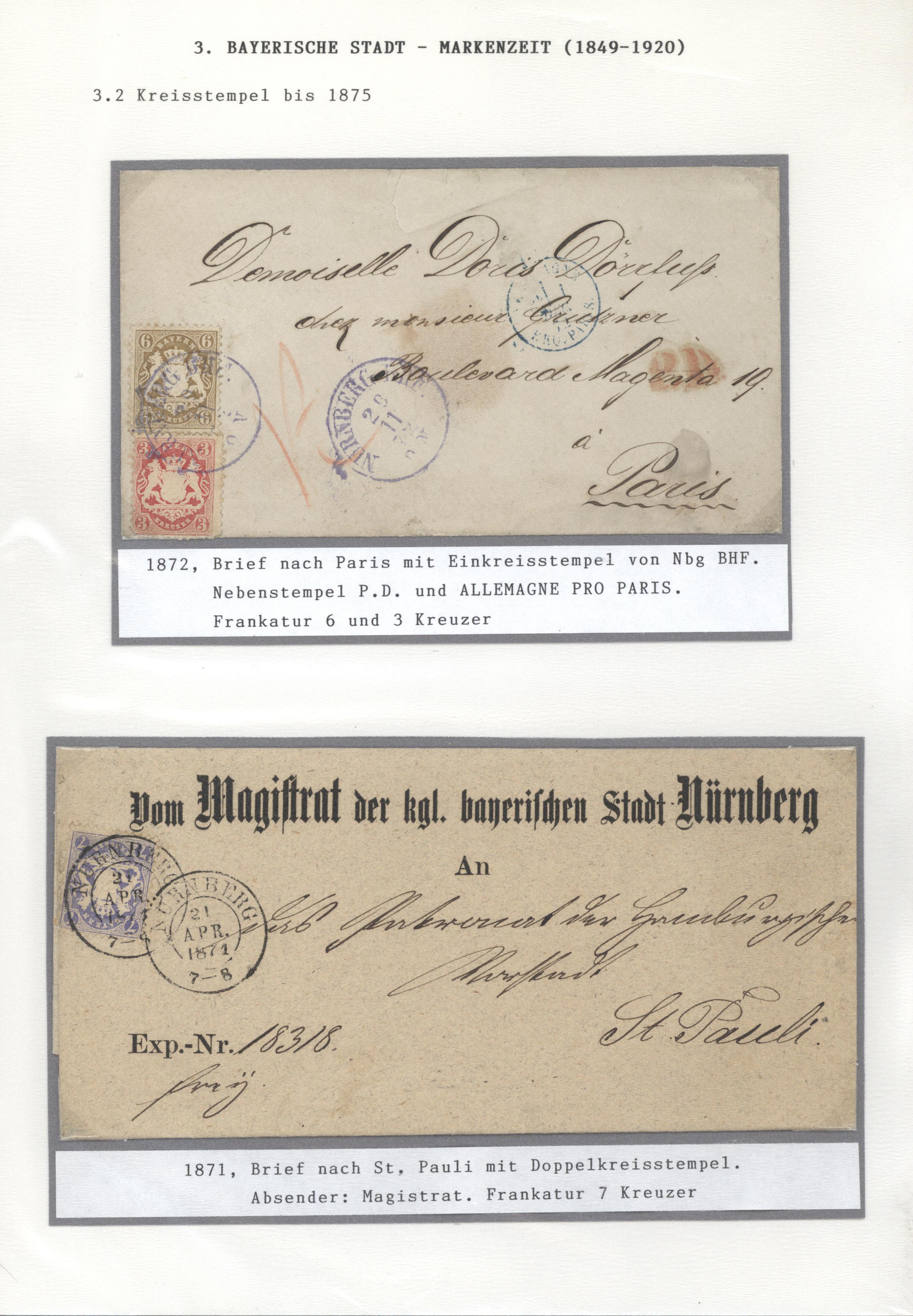 Lot 36172 - Bayern - Marken und Briefe  -  Auktionshaus Christoph Gärtner GmbH & Co. KG Sale #44 Collections Germany