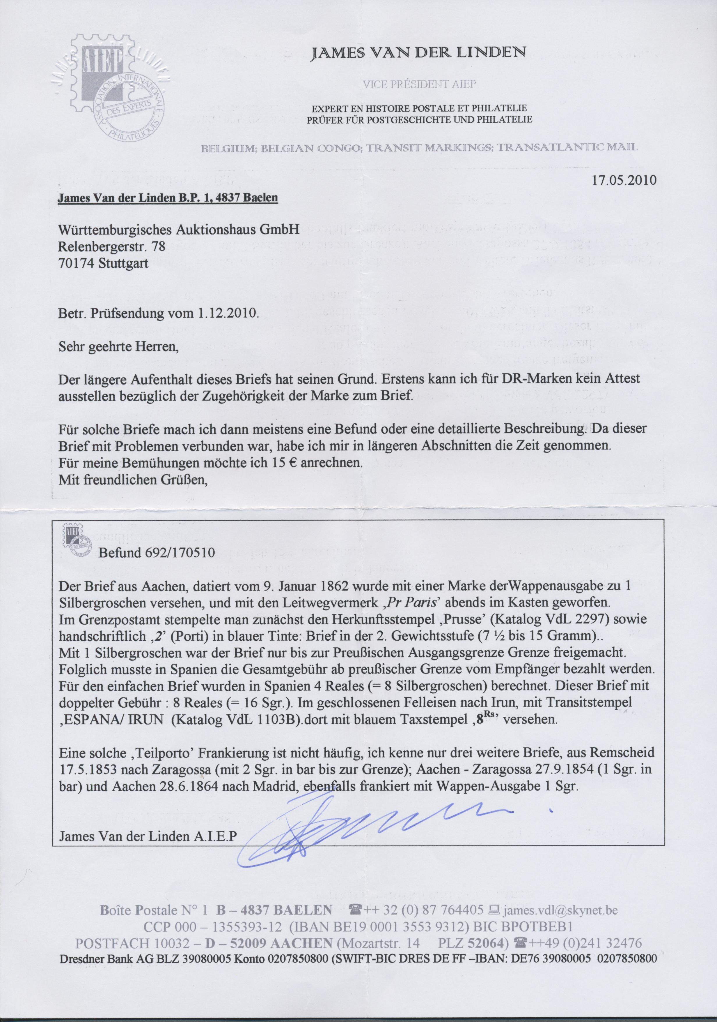 Coin Auction Preußen Marken Und Briefe Auction 40 Germany