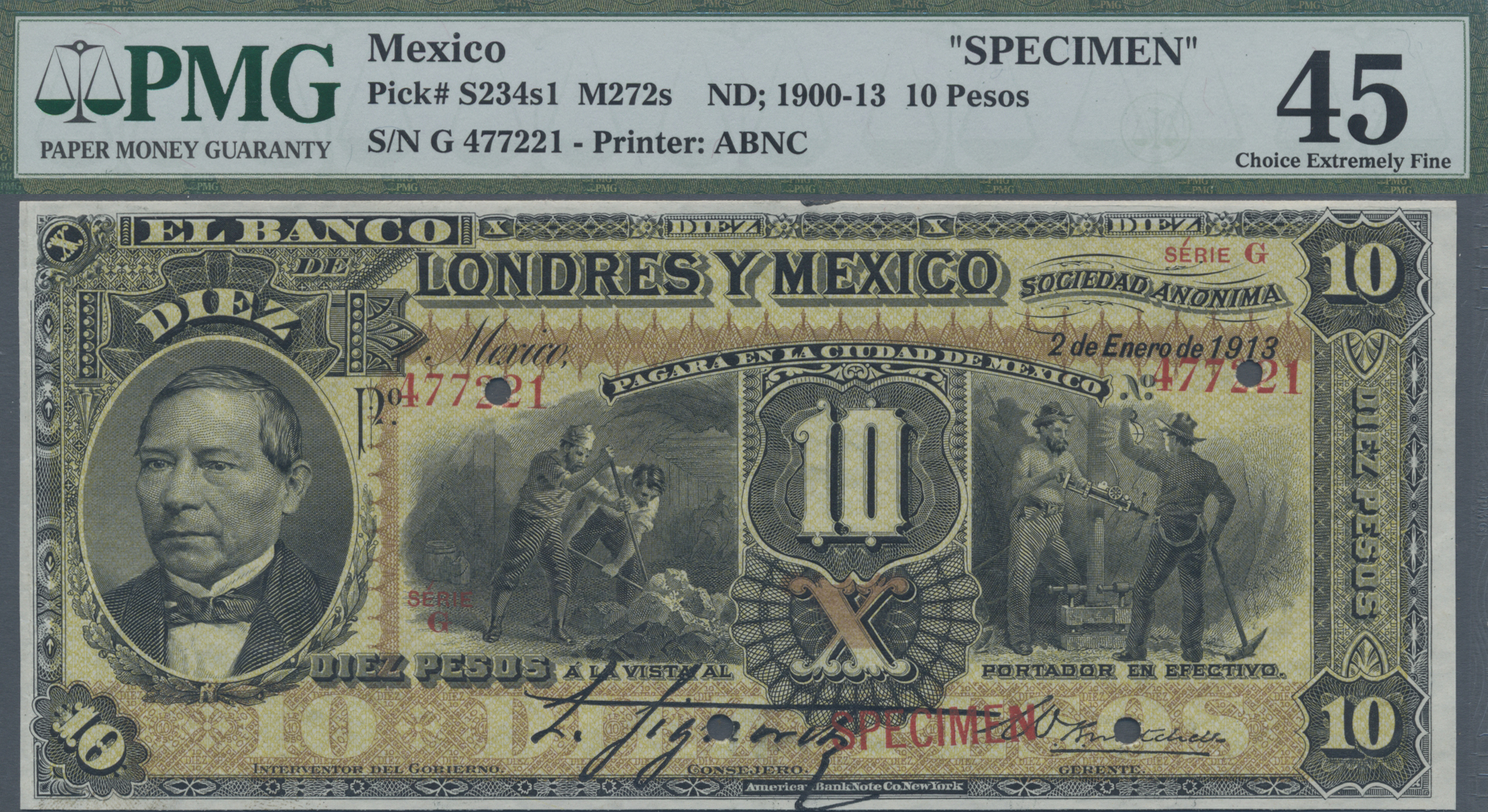 Lot 00530 - Mexico | Banknoten  -  Auktionshaus Christoph Gärtner GmbH & Co. KG Sale #48 The Banknotes